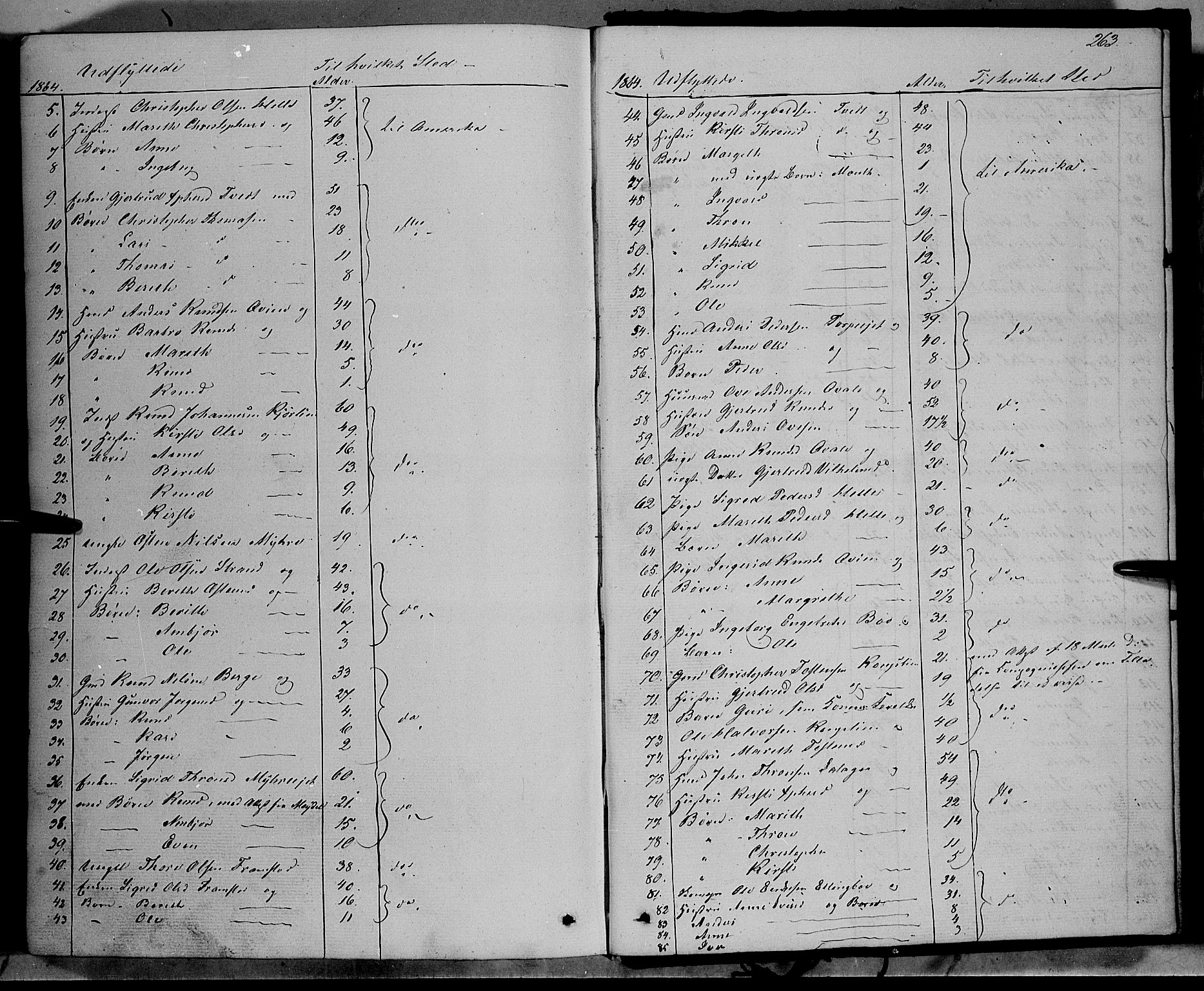 SAH, Vang prestekontor, Valdres, Ministerialbok nr. 6, 1846-1864, s. 263