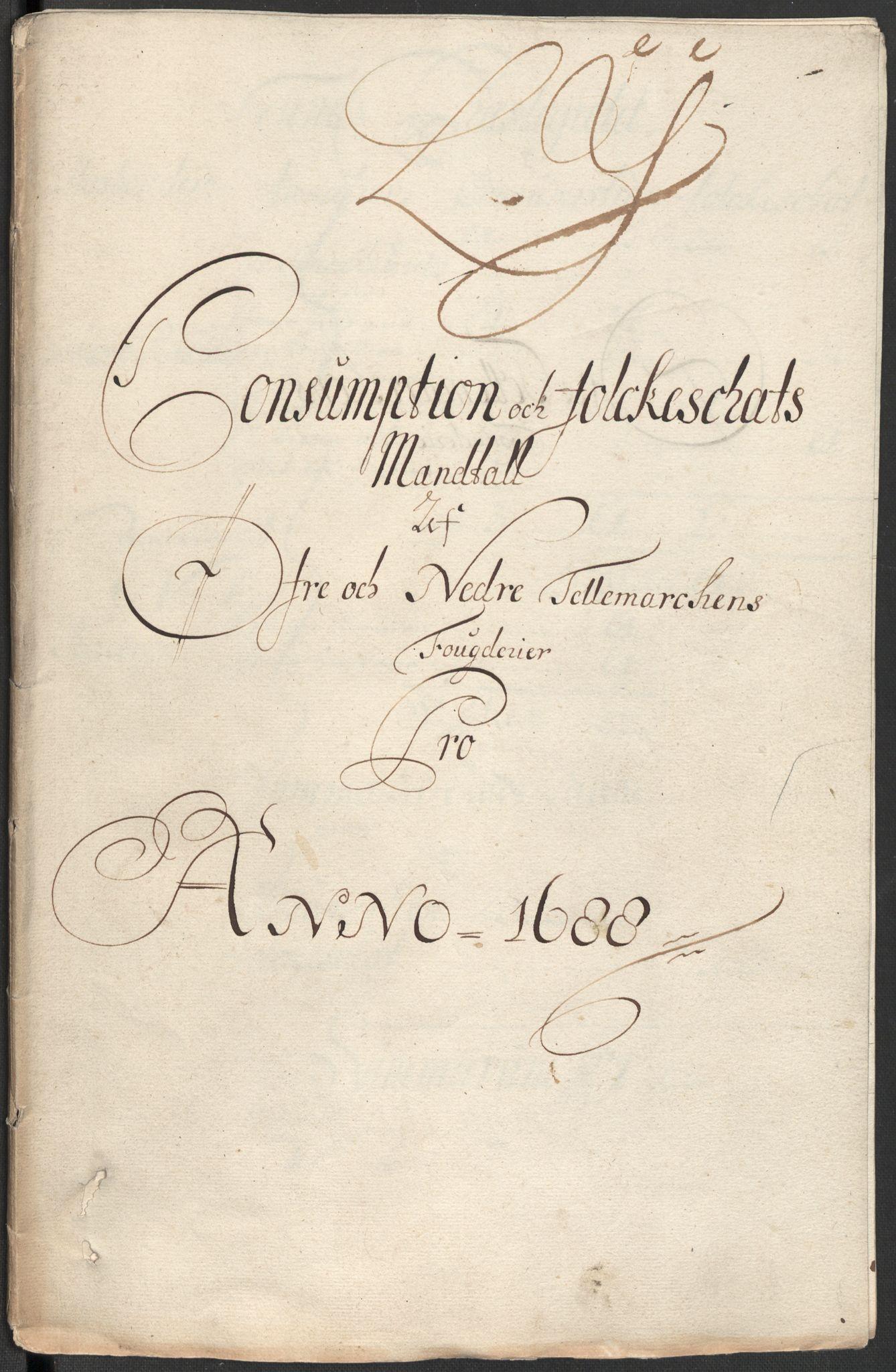 RA, Rentekammeret inntil 1814, Reviderte regnskaper, Fogderegnskap, R35/L2087: Fogderegnskap Øvre og Nedre Telemark, 1687-1689, s. 332