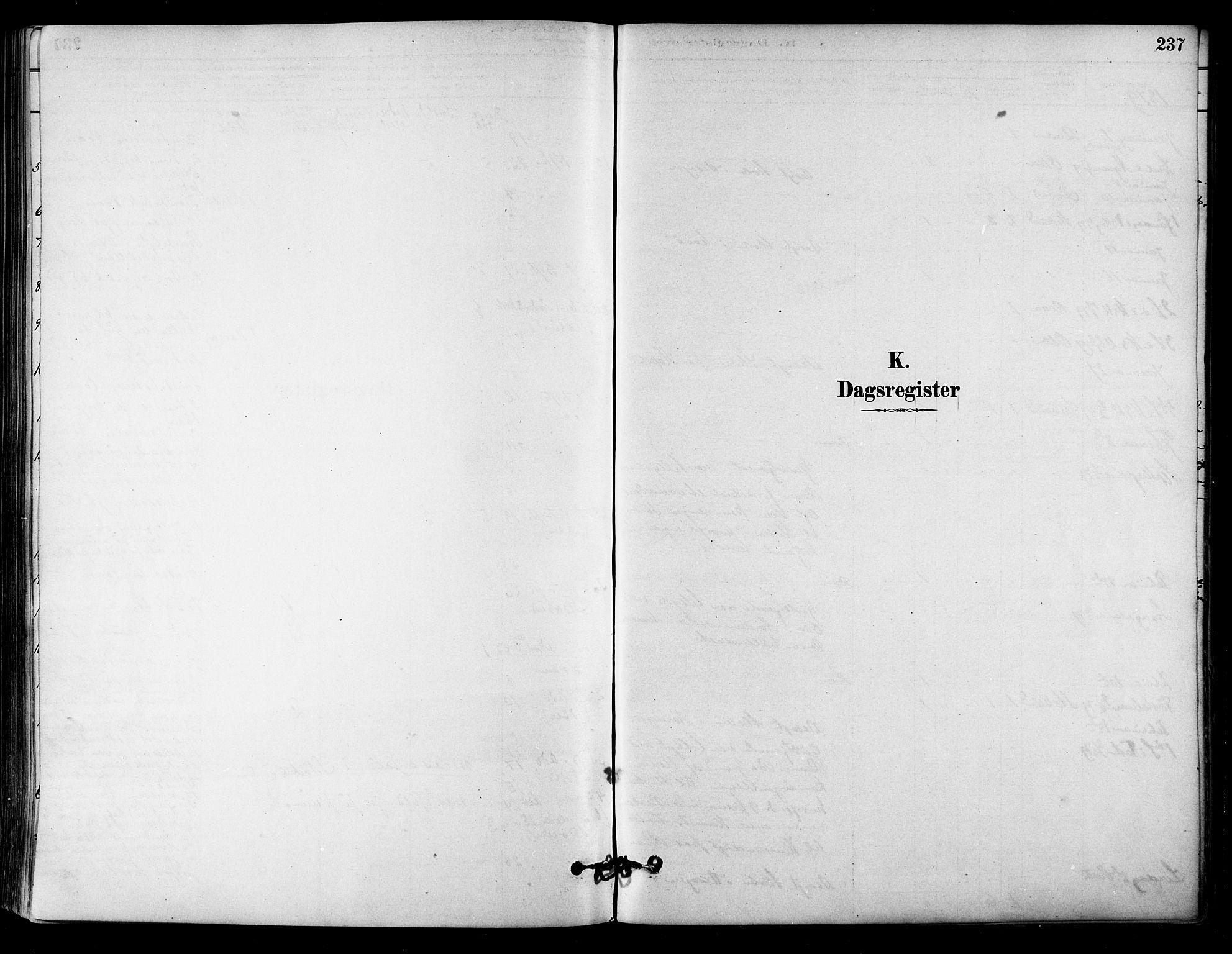 SAT, Ministerialprotokoller, klokkerbøker og fødselsregistre - Sør-Trøndelag, 657/L0707: Ministerialbok nr. 657A08, 1879-1893, s. 237