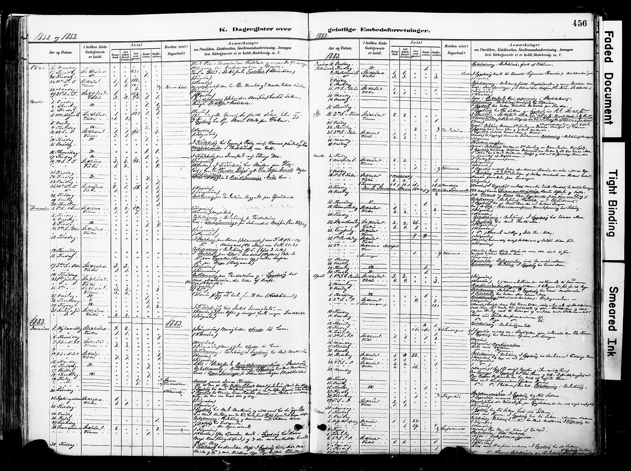 SAT, Ministerialprotokoller, klokkerbøker og fødselsregistre - Nord-Trøndelag, 723/L0244: Ministerialbok nr. 723A13, 1881-1899, s. 456