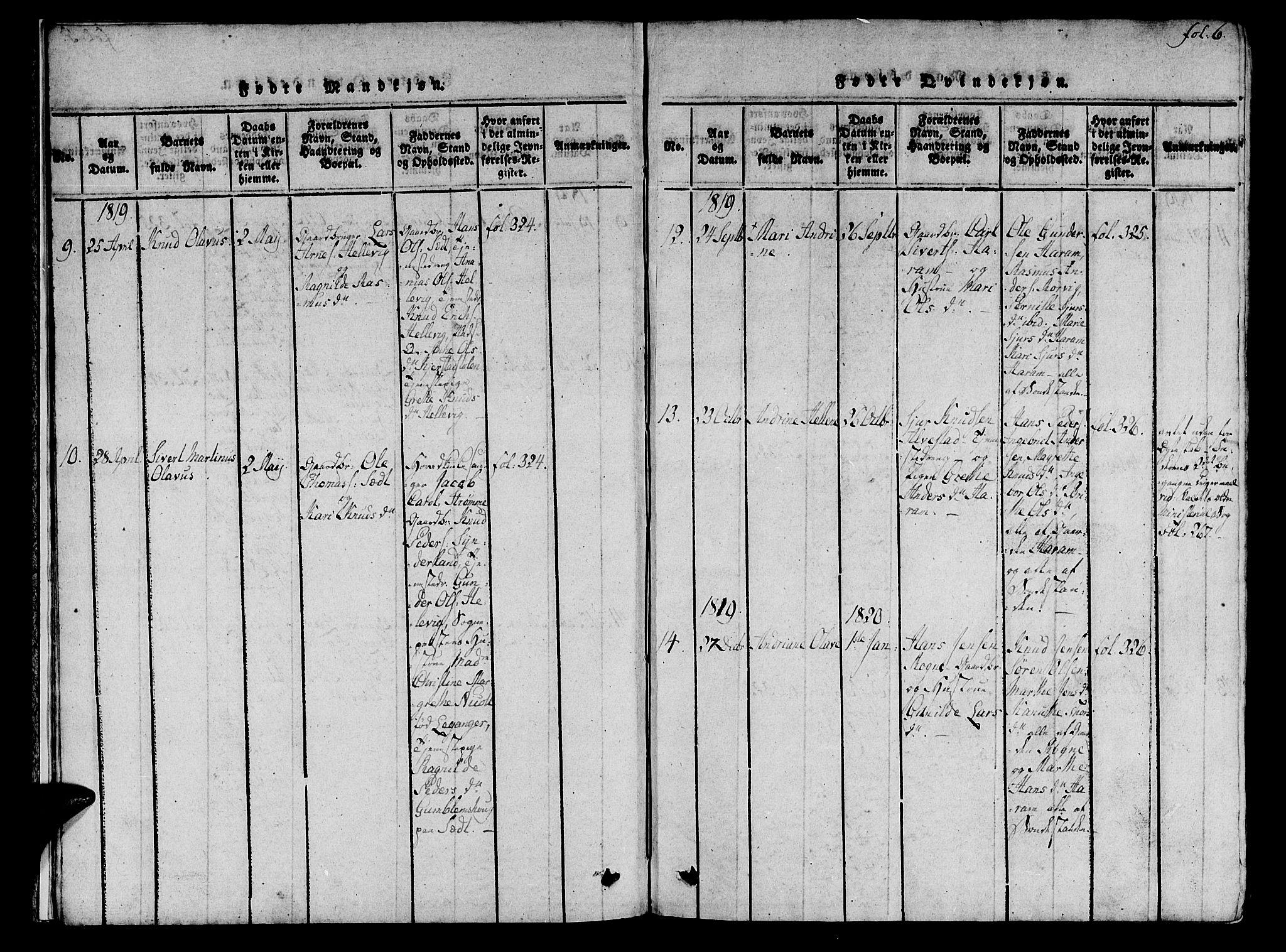 SAT, Ministerialprotokoller, klokkerbøker og fødselsregistre - Møre og Romsdal, 536/L0495: Ministerialbok nr. 536A04, 1818-1847, s. 6