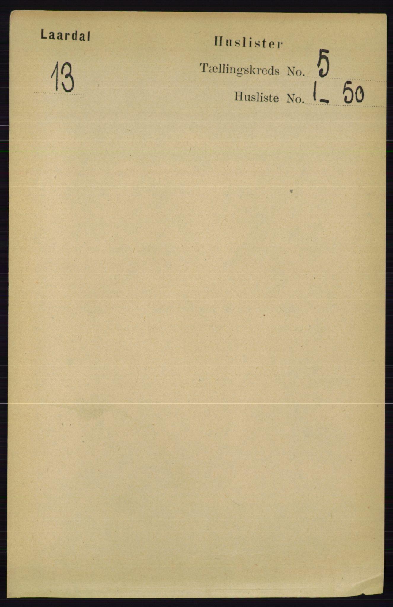 RA, Folketelling 1891 for 0833 Lårdal herred, 1891, s. 1281