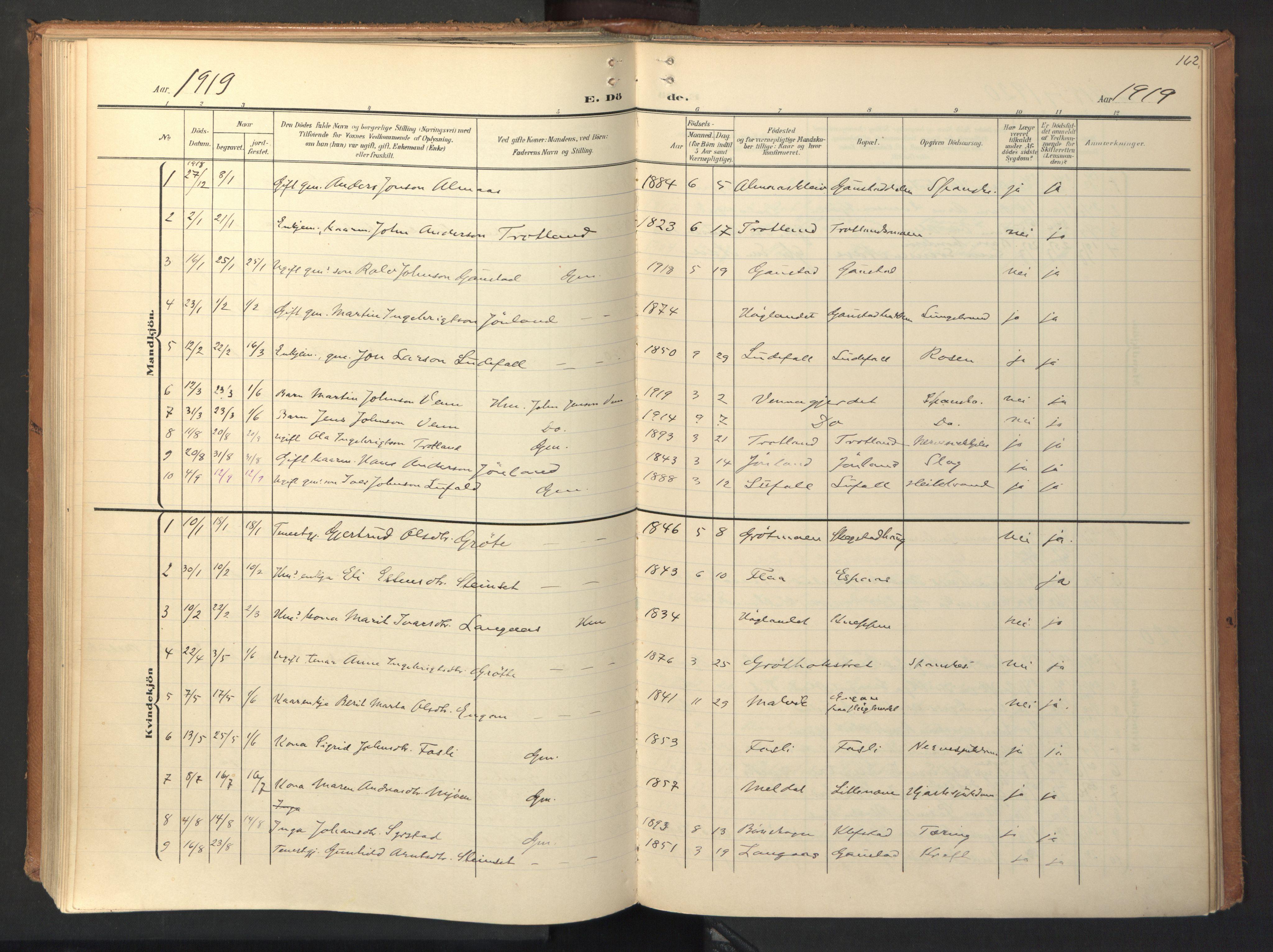 SAT, Ministerialprotokoller, klokkerbøker og fødselsregistre - Sør-Trøndelag, 694/L1128: Ministerialbok nr. 694A02, 1906-1931, s. 162