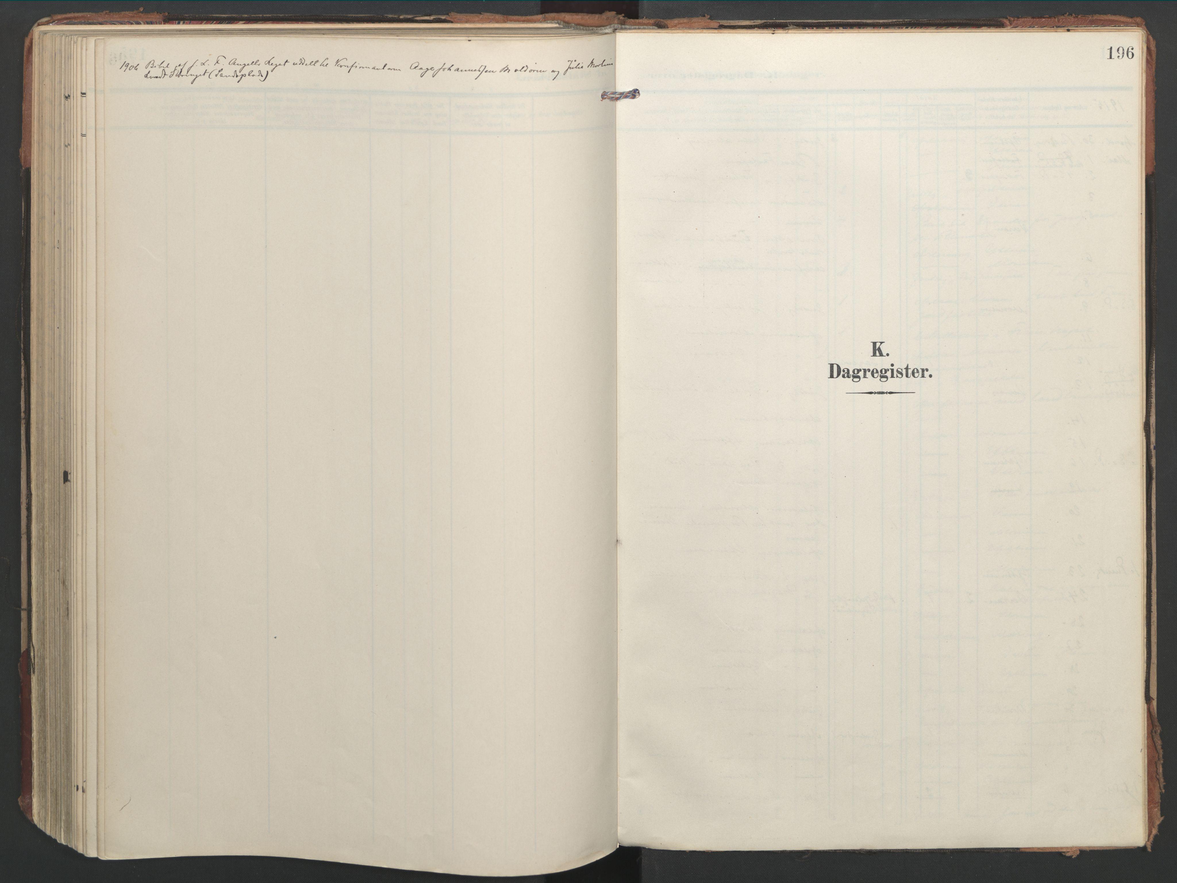 SAT, Ministerialprotokoller, klokkerbøker og fødselsregistre - Nord-Trøndelag, 744/L0421: Ministerialbok nr. 744A05, 1905-1930, s. 196