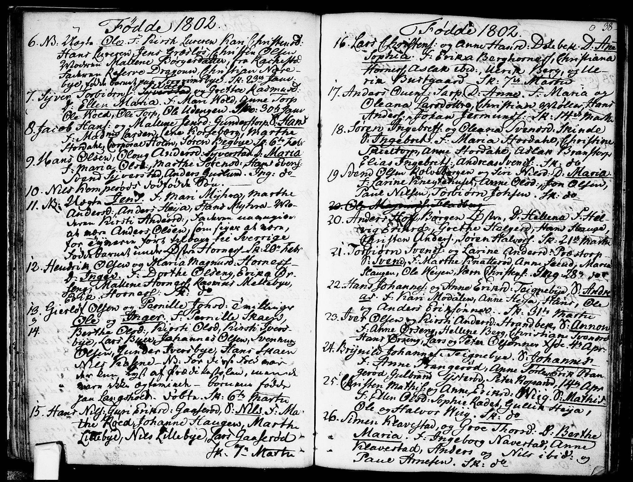 SAO, Skjeberg prestekontor Kirkebøker, F/Fa/L0003: Ministerialbok nr. I 3, 1792-1814, s. 38