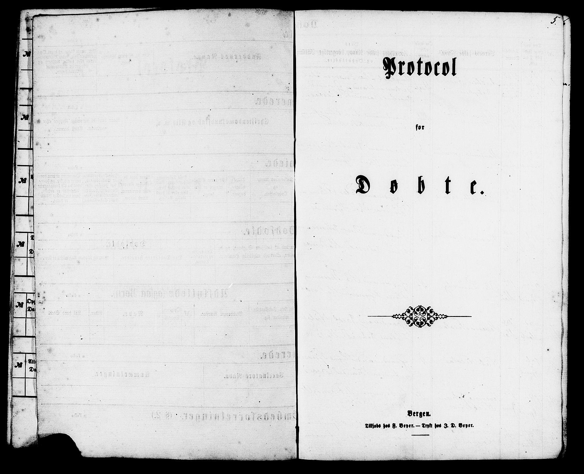 SAT, Ministerialprotokoller, klokkerbøker og fødselsregistre - Møre og Romsdal, 537/L0518: Ministerialbok nr. 537A02, 1862-1876, s. 5
