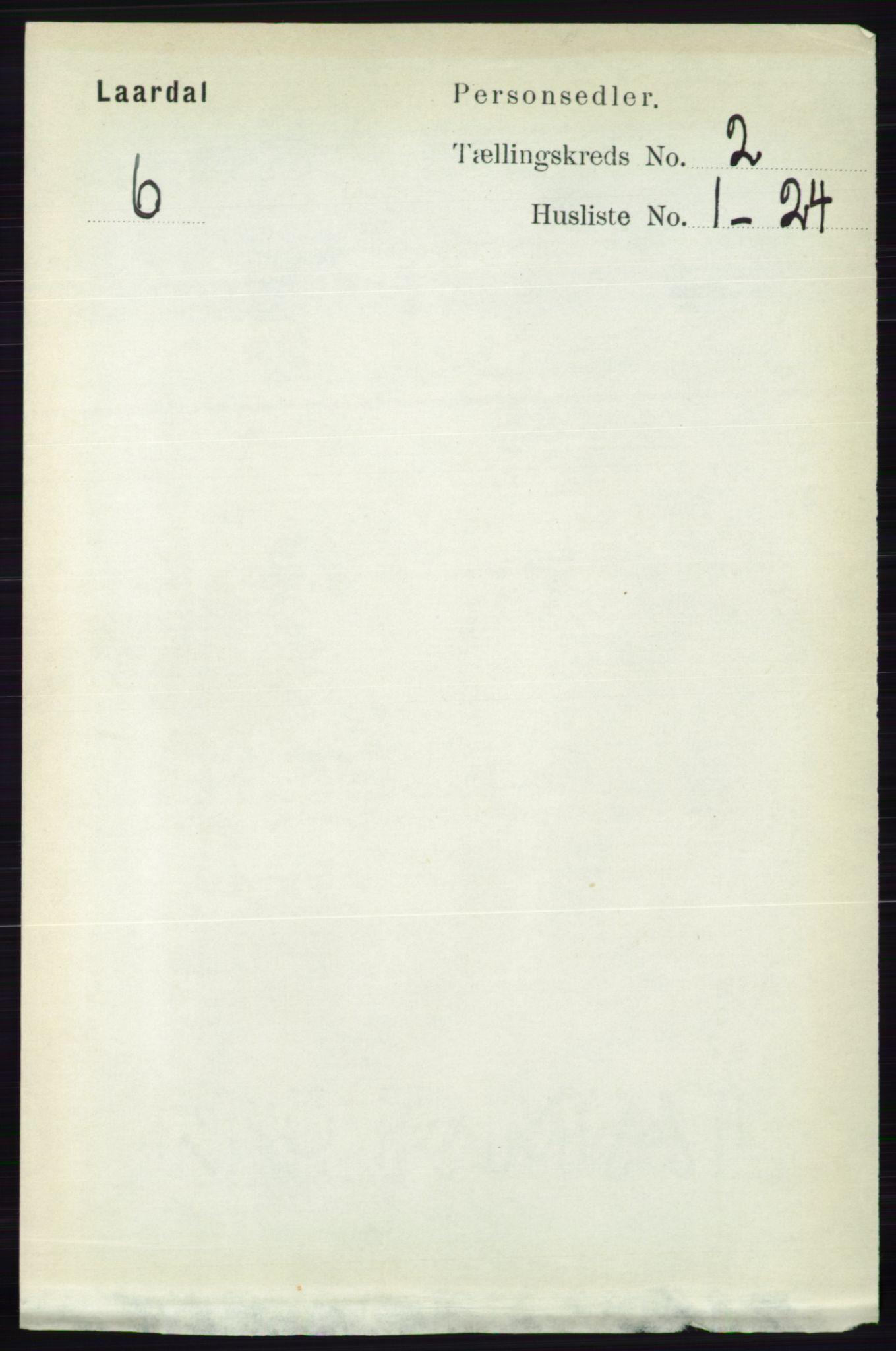 RA, Folketelling 1891 for 0833 Lårdal herred, 1891, s. 600