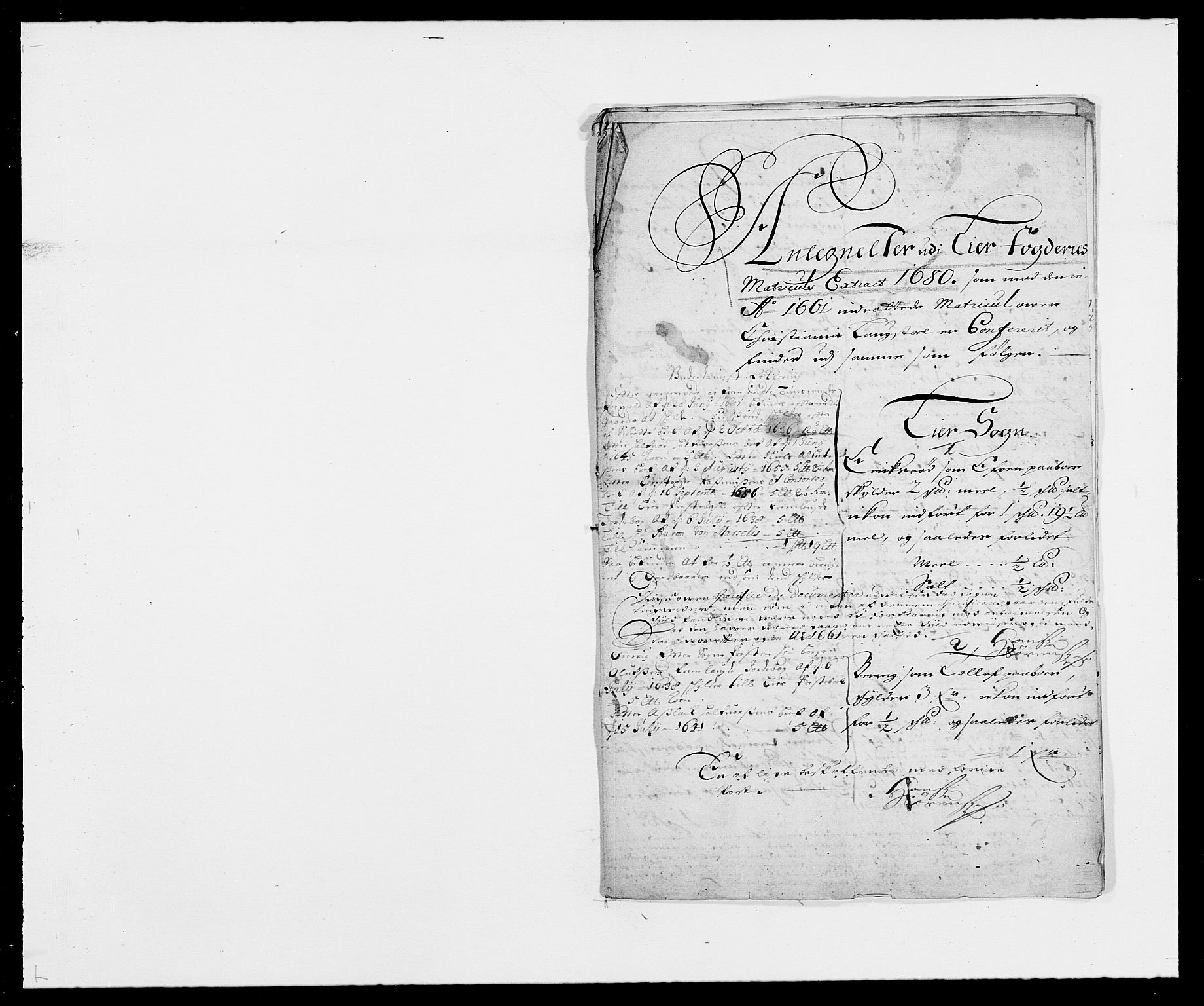 RA, Rentekammeret inntil 1814, Reviderte regnskaper, Fogderegnskap, R27/L1687: Fogderegnskap Lier, 1678-1686, s. 419