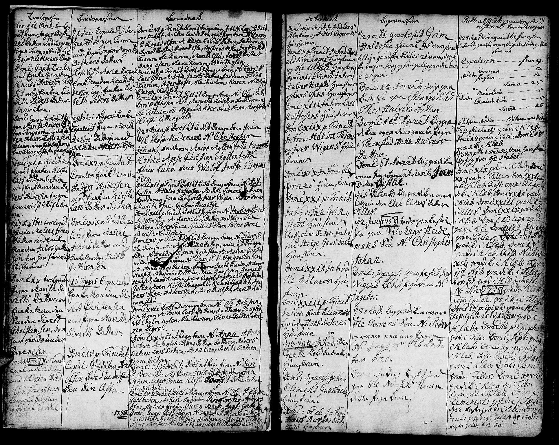 SAT, Ministerialprotokoller, klokkerbøker og fødselsregistre - Sør-Trøndelag, 618/L0437: Ministerialbok nr. 618A02, 1749-1782, s. 11