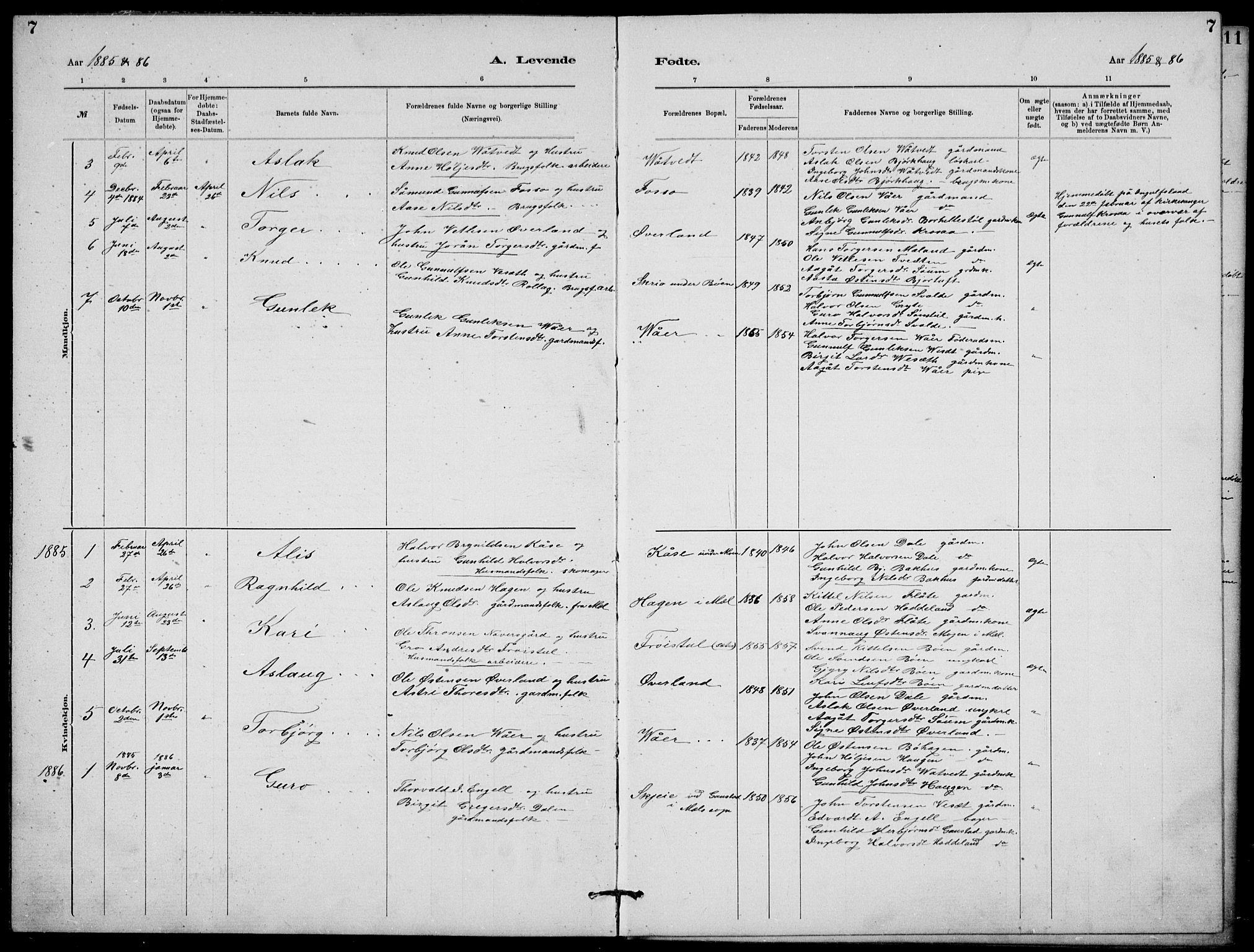 SAKO, Rjukan kirkebøker, G/Ga/L0001: Klokkerbok nr. 1, 1880-1914, s. 7