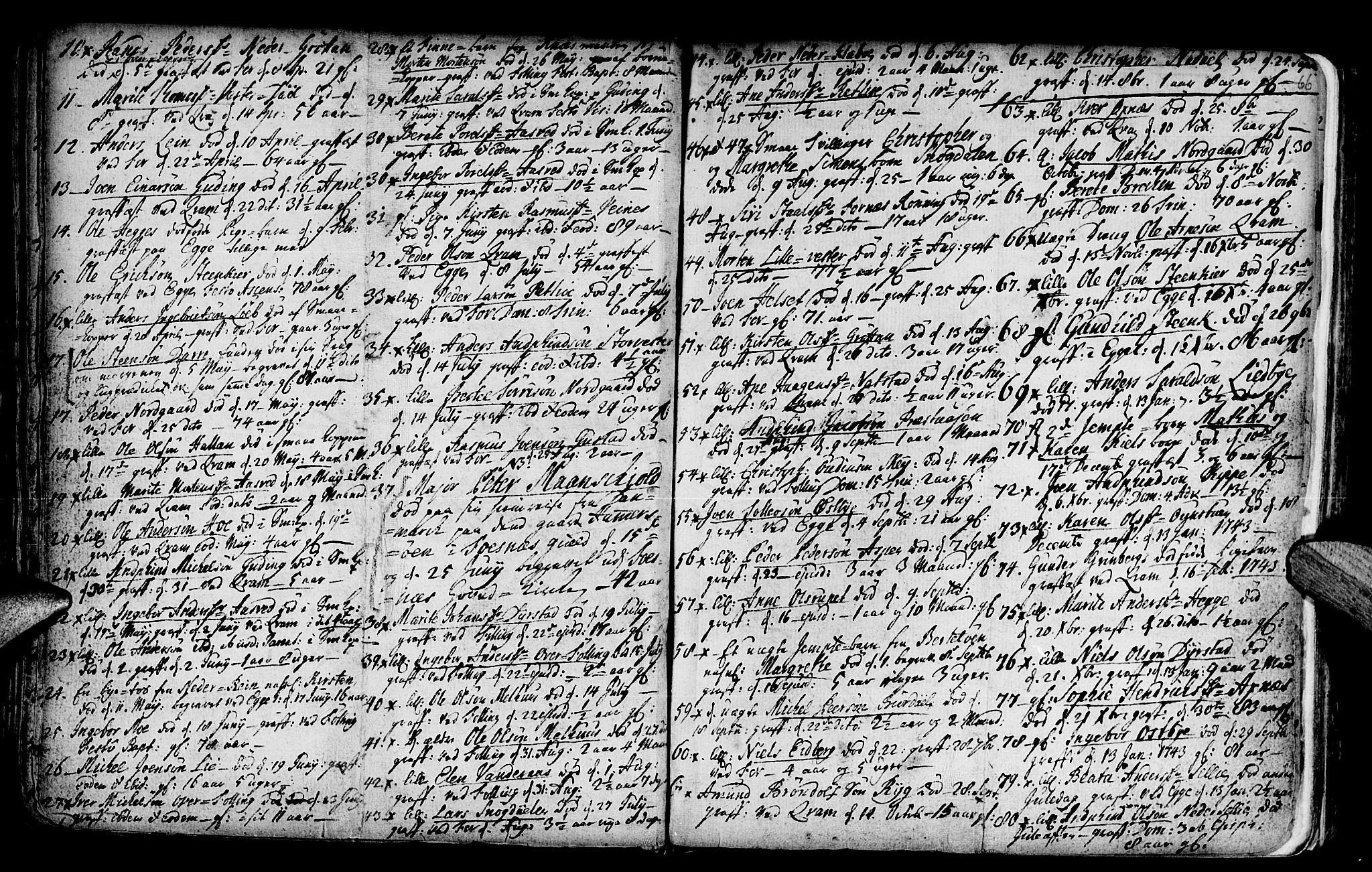 SAT, Ministerialprotokoller, klokkerbøker og fødselsregistre - Nord-Trøndelag, 746/L0439: Ministerialbok nr. 746A01, 1688-1759, s. 66