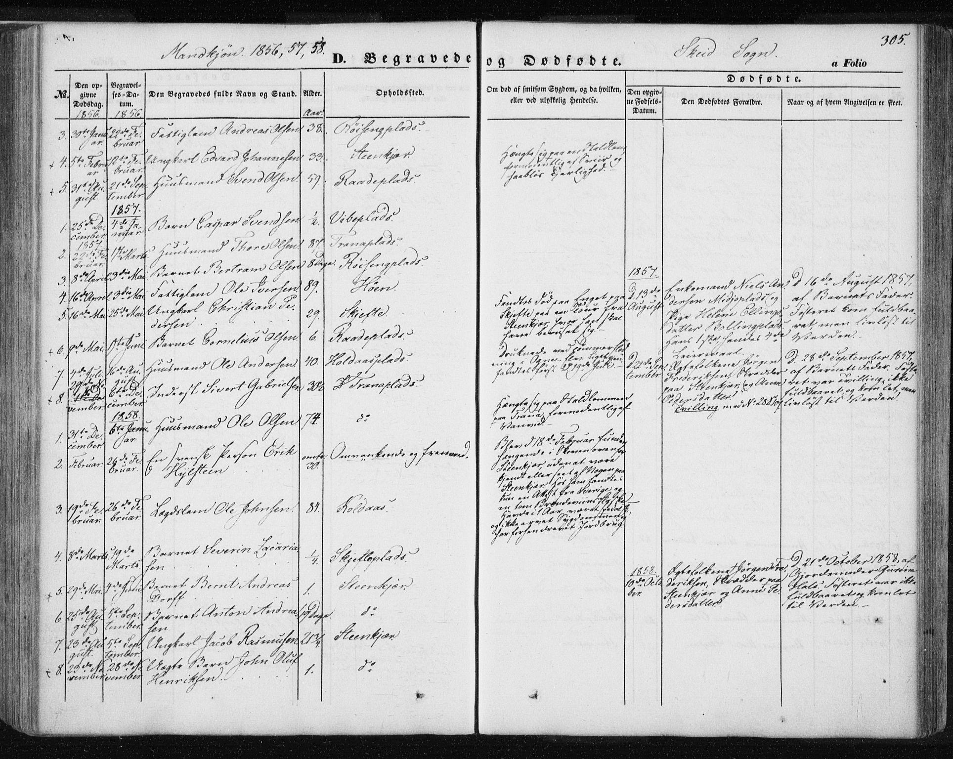 SAT, Ministerialprotokoller, klokkerbøker og fødselsregistre - Nord-Trøndelag, 735/L0342: Ministerialbok nr. 735A07 /2, 1849-1862, s. 305