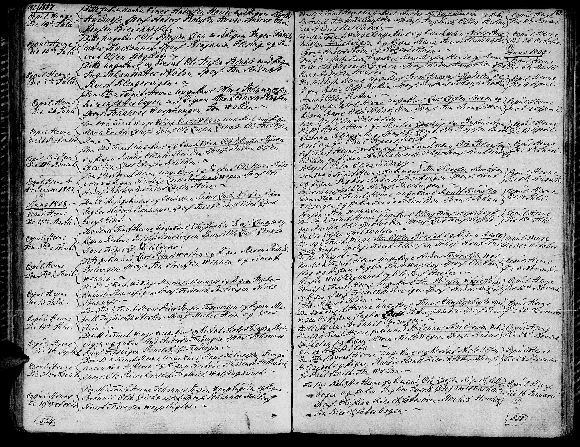 SAT, Ministerialprotokoller, klokkerbøker og fødselsregistre - Sør-Trøndelag, 630/L0490: Ministerialbok nr. 630A03, 1795-1818, s. 182-183