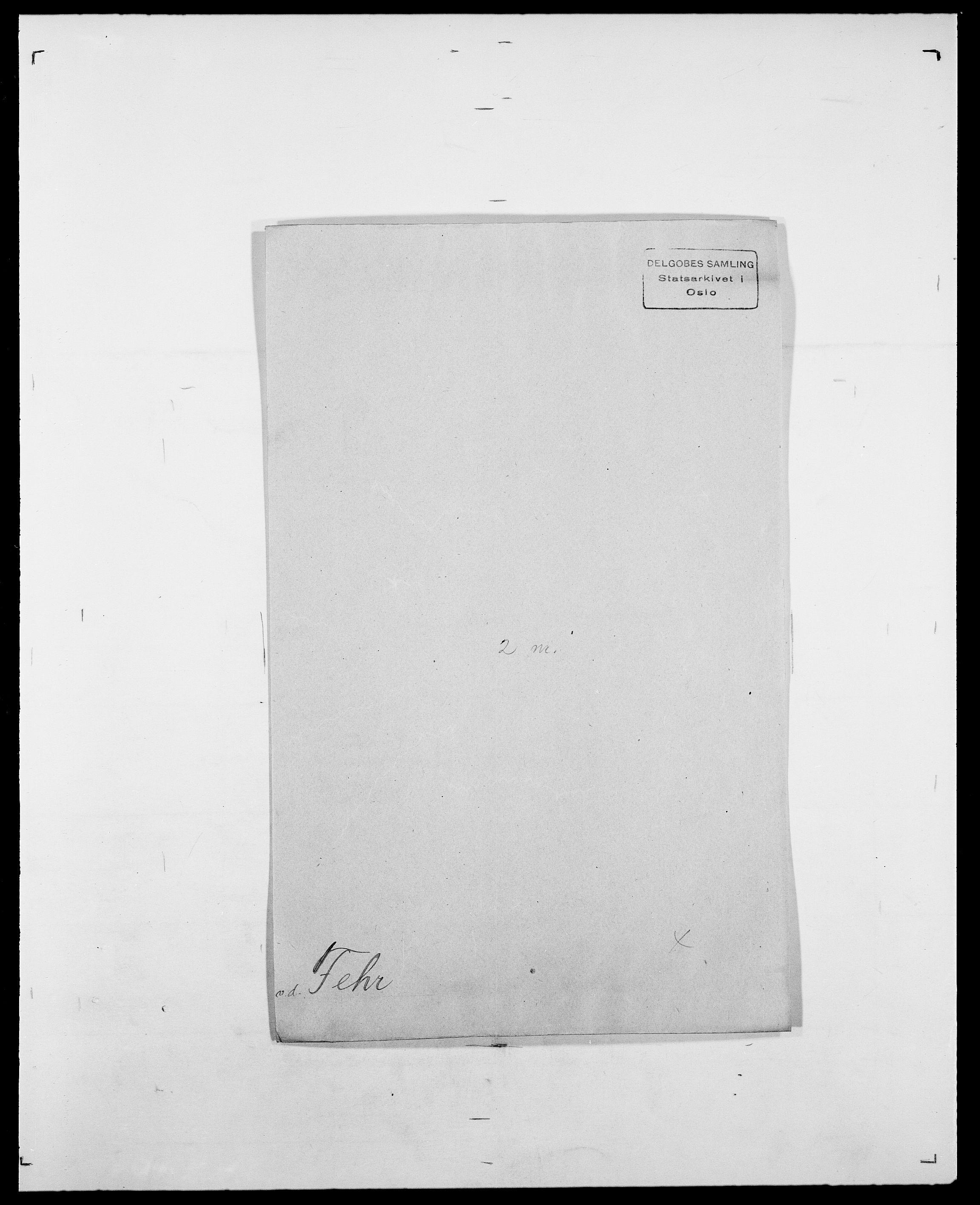SAO, Delgobe, Charles Antoine - samling, D/Da/L0011: Fahlander - Flood, Flod, s. 308