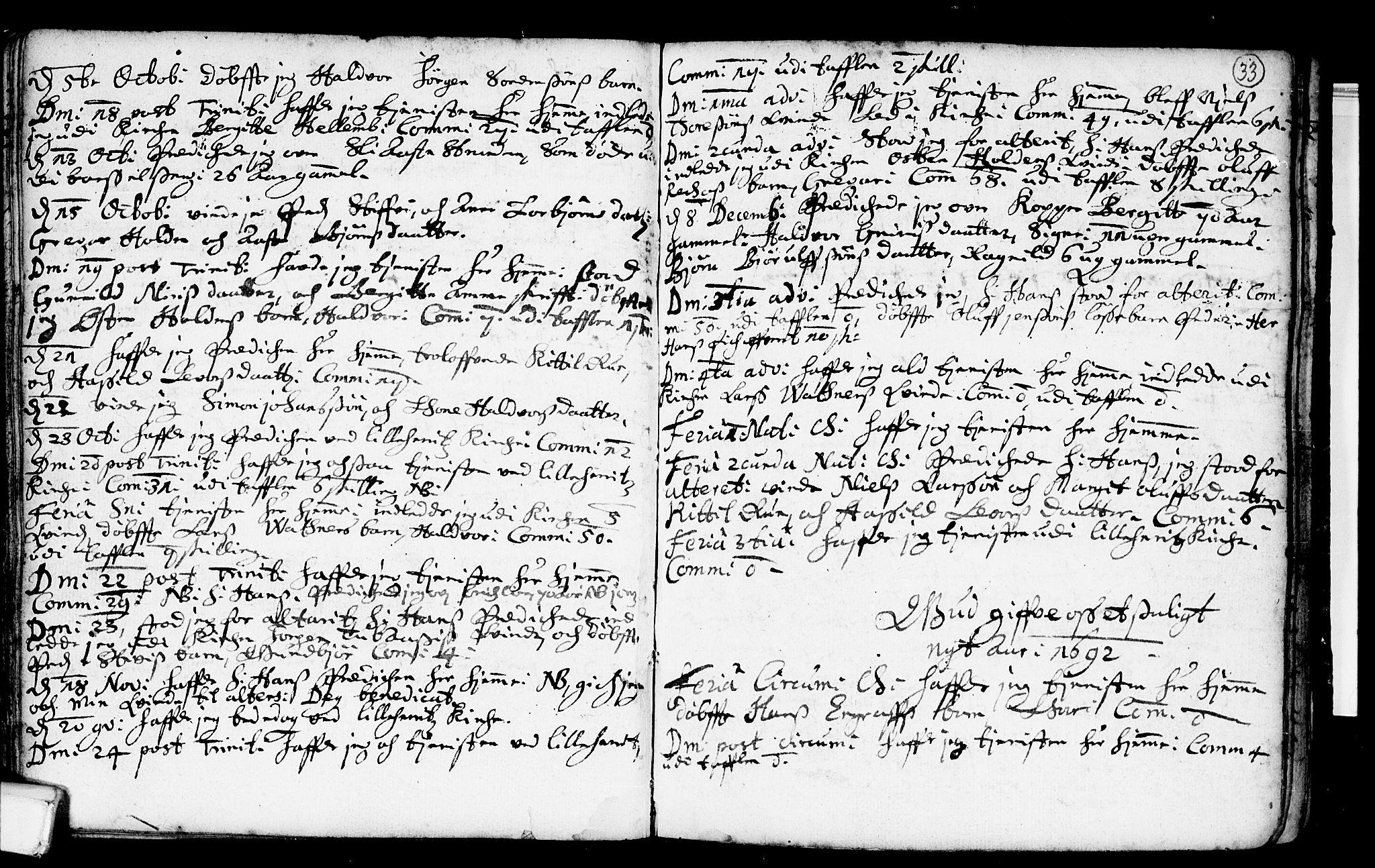 SAKO, Heddal kirkebøker, F/Fa/L0001: Ministerialbok nr. I 1, 1648-1699, s. 33
