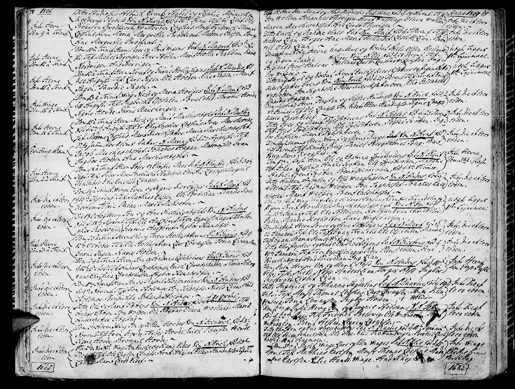 SAT, Ministerialprotokoller, klokkerbøker og fødselsregistre - Sør-Trøndelag, 630/L0490: Ministerialbok nr. 630A03, 1795-1818, s. 78-79