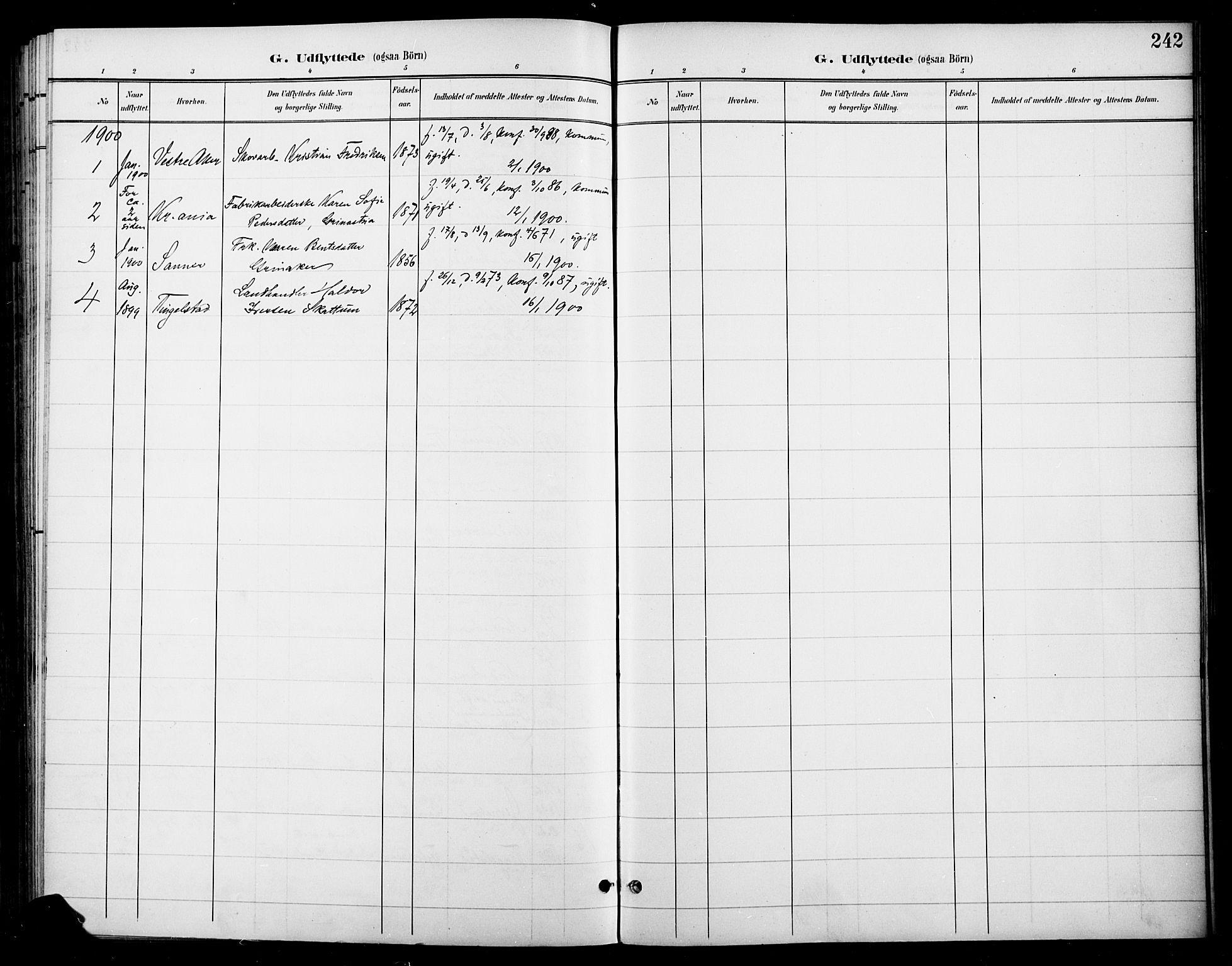 SAH, Gran prestekontor, Ministerialbok nr. 19, 1898-1907, s. 242