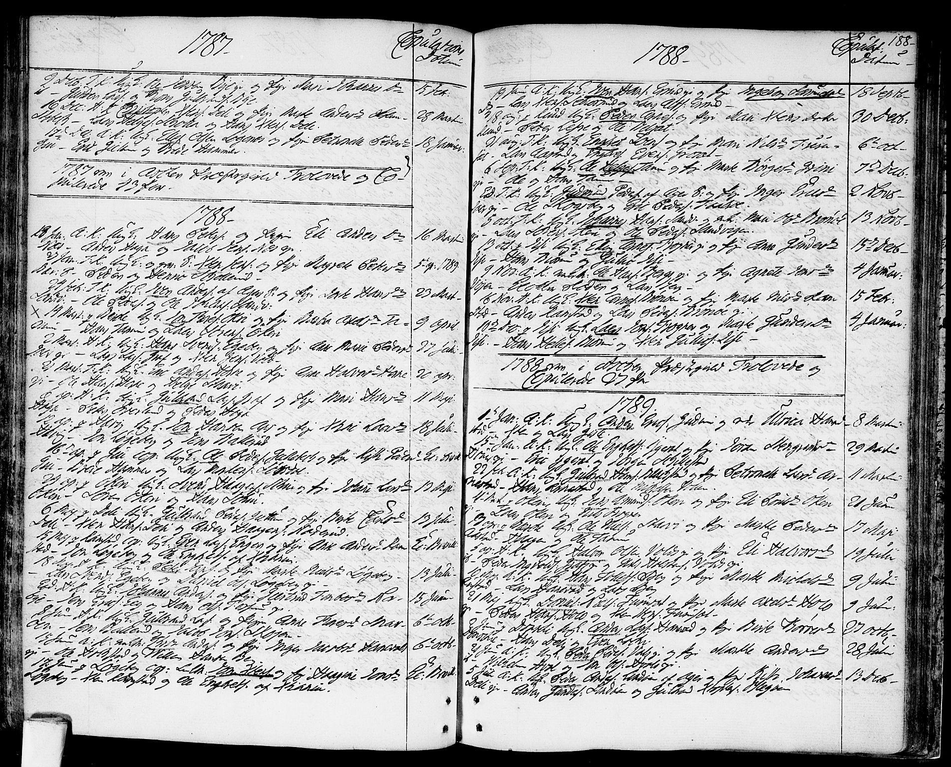 SAO, Asker prestekontor Kirkebøker, F/Fa/L0003: Ministerialbok nr. I 3, 1767-1807, s. 188