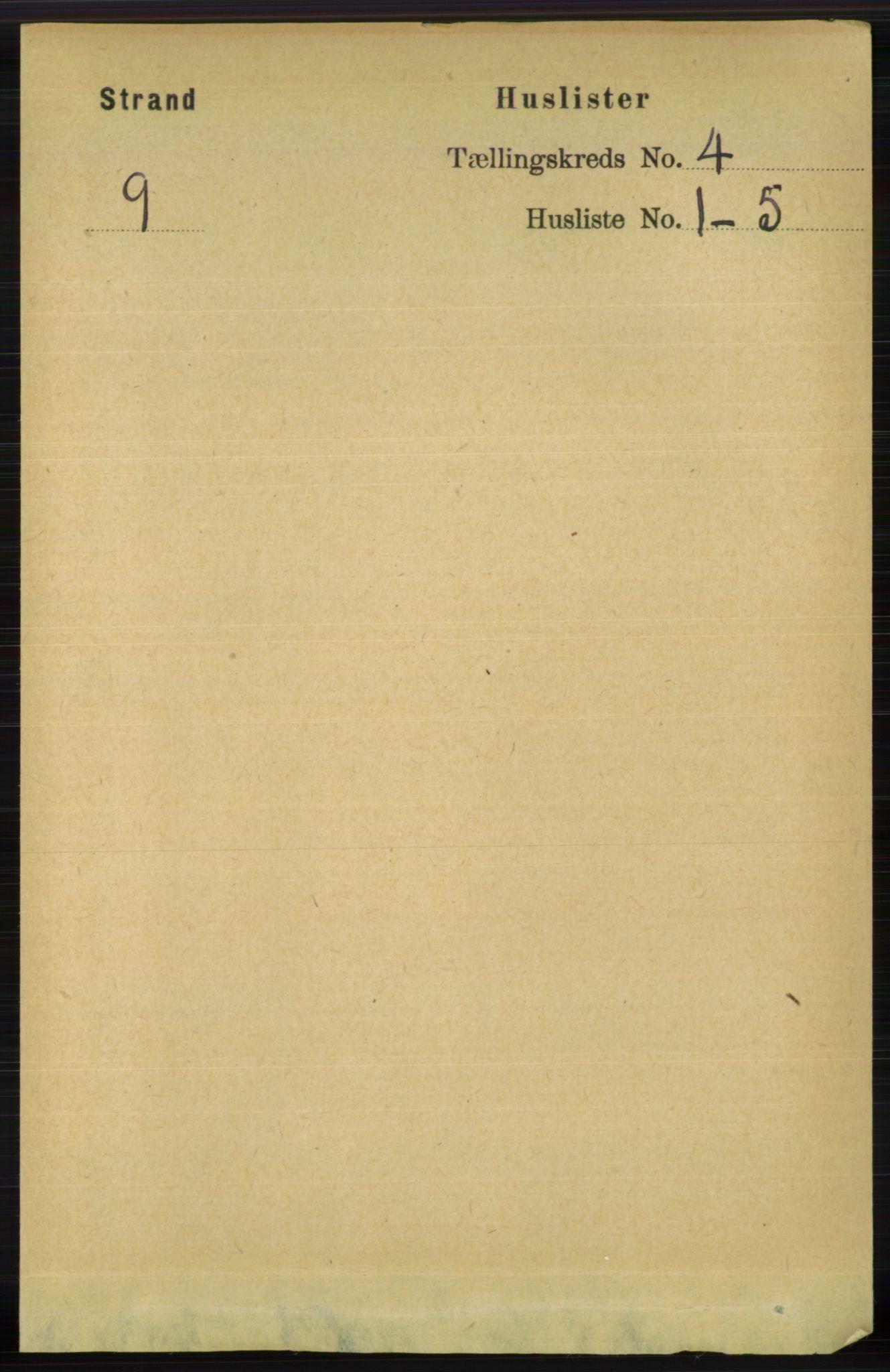 RA, Folketelling 1891 for 1130 Strand herred, 1891, s. 1111
