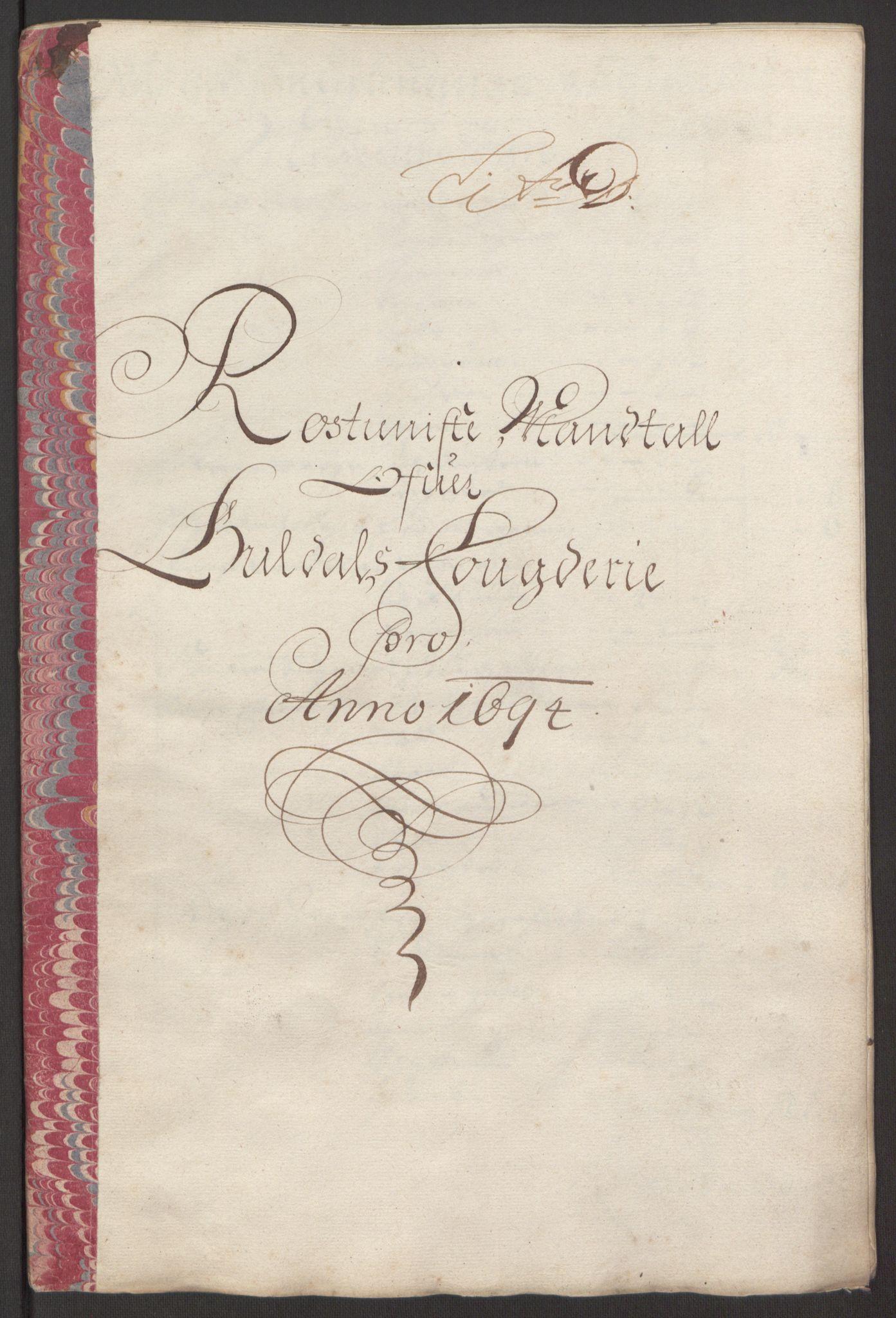RA, Rentekammeret inntil 1814, Reviderte regnskaper, Fogderegnskap, R60/L3944: Fogderegnskap Orkdal og Gauldal, 1694, s. 344