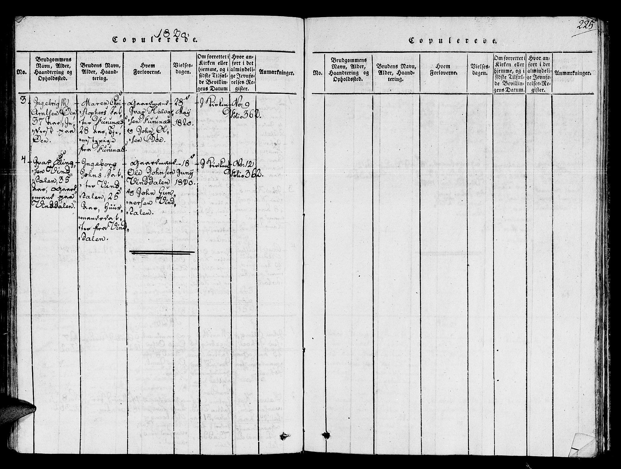 SAT, Ministerialprotokoller, klokkerbøker og fødselsregistre - Sør-Trøndelag, 678/L0896: Ministerialbok nr. 678A05 /2, 1816-1821, s. 225