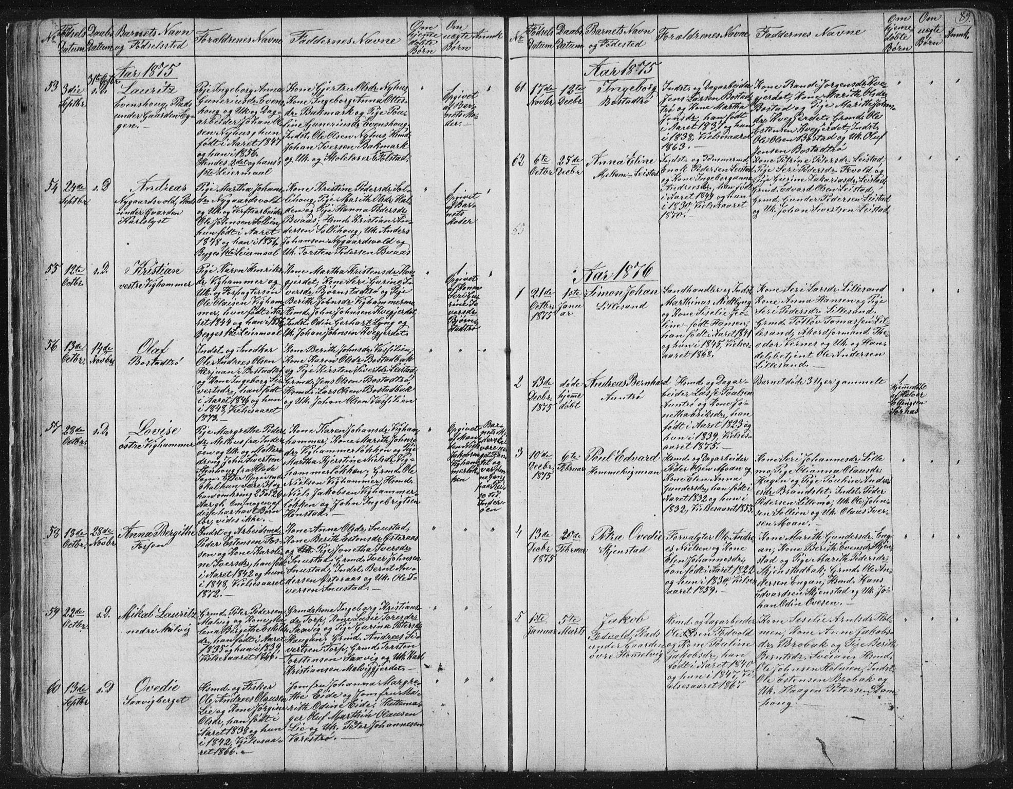 SAT, Ministerialprotokoller, klokkerbøker og fødselsregistre - Sør-Trøndelag, 616/L0406: Ministerialbok nr. 616A03, 1843-1879, s. 89
