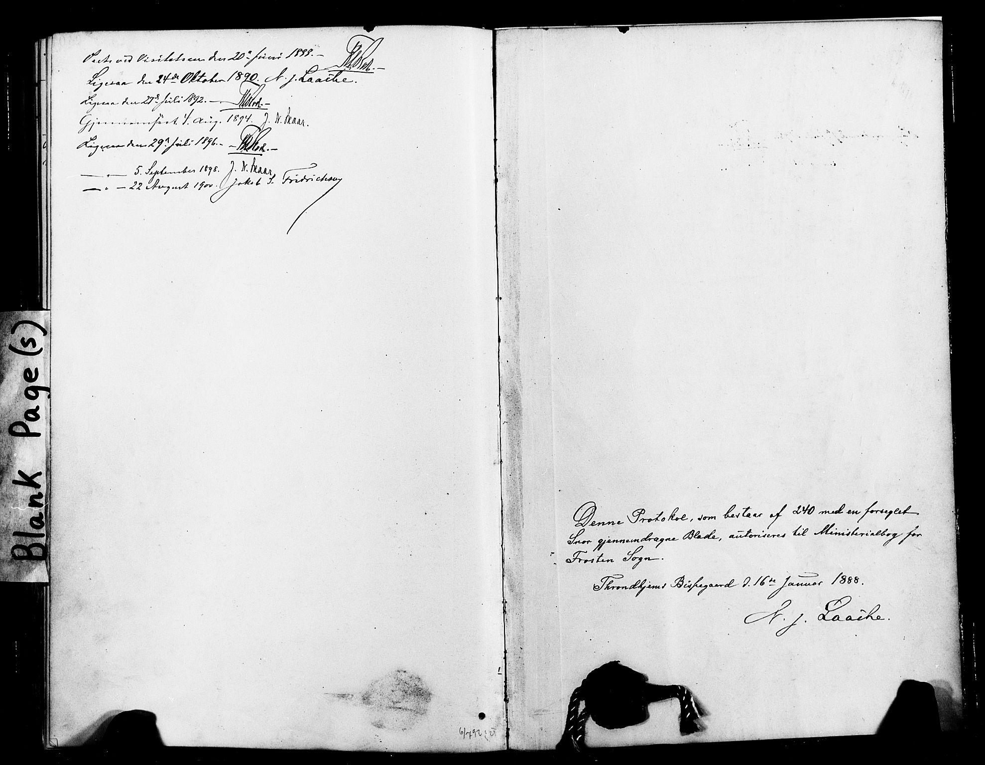 SAT, Ministerialprotokoller, klokkerbøker og fødselsregistre - Nord-Trøndelag, 713/L0121: Ministerialbok nr. 713A10, 1888-1898