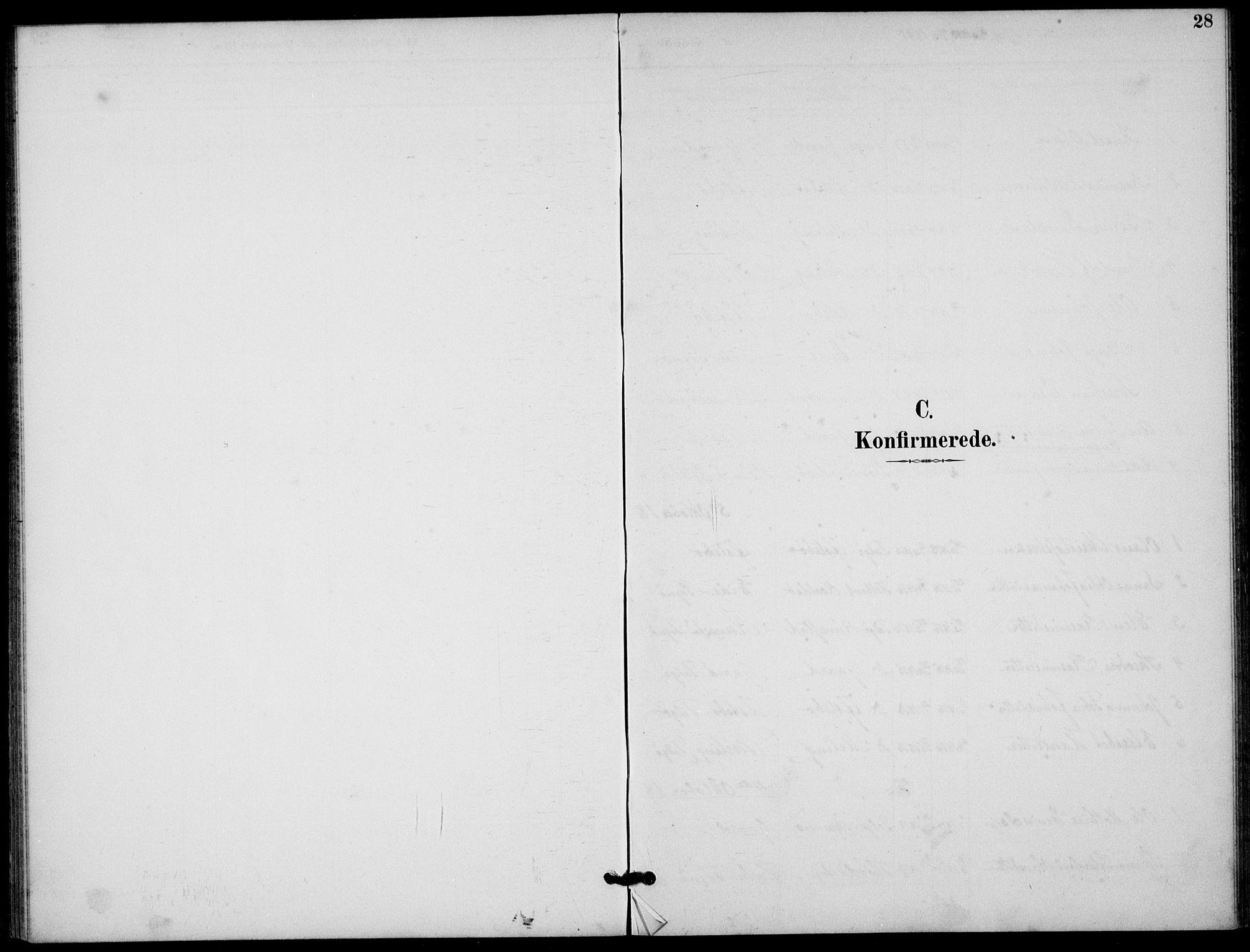 SAST, Finnøy sokneprestkontor, H/Ha/Haa/L0012: Ministerialbok nr. A 12, 1889-1917, s. 28