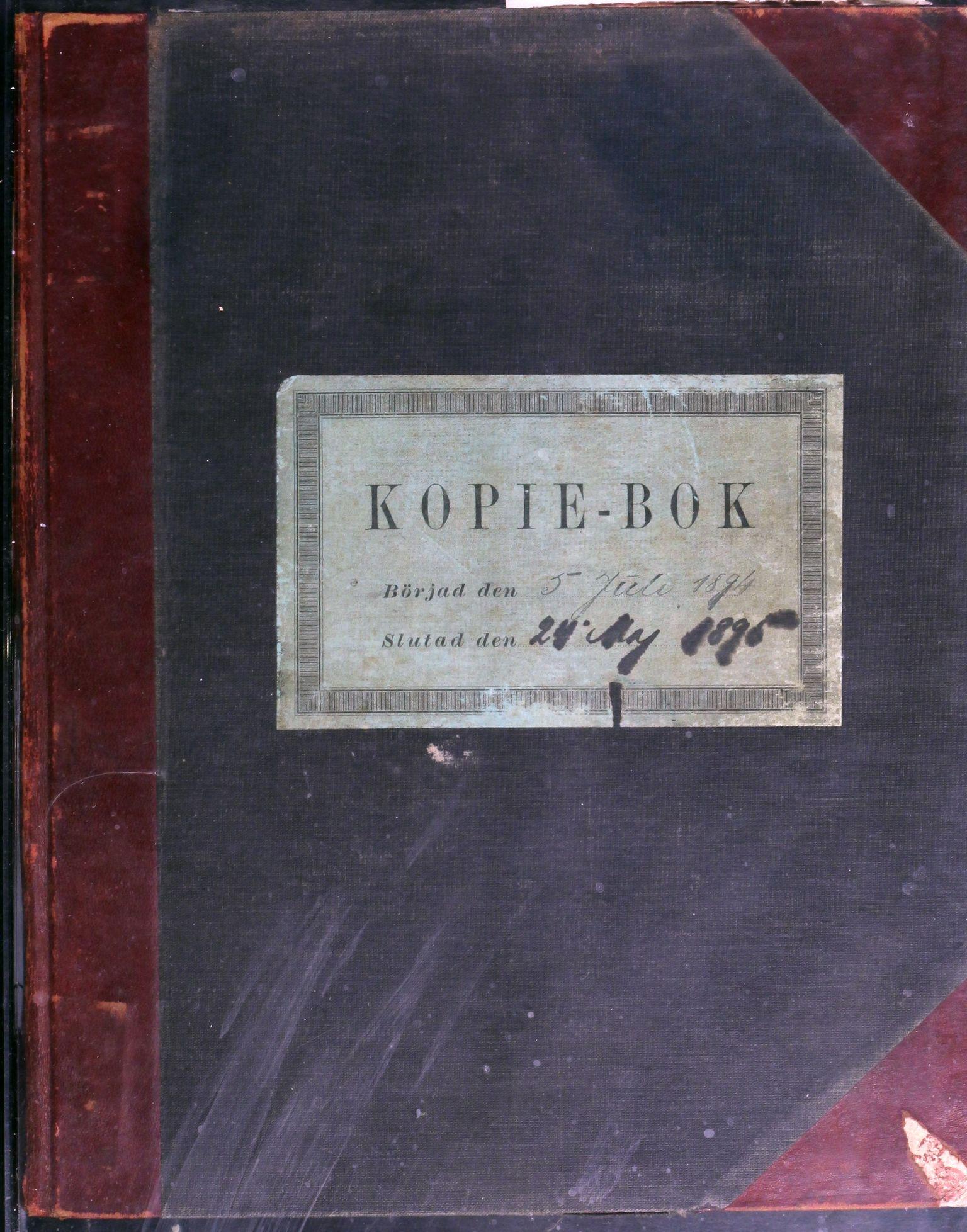 AIN, A/S Sulitjelma Gruber, B/Ba/L0007: Kopibok - Diverse adressater, 1894-1895