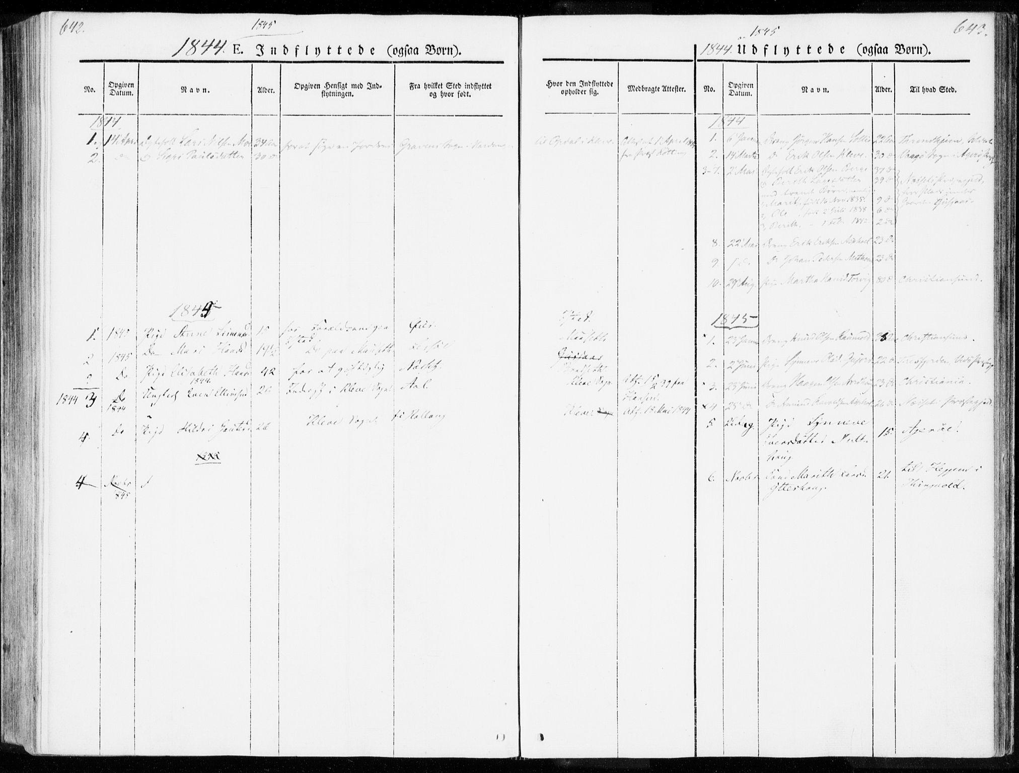 SAT, Ministerialprotokoller, klokkerbøker og fødselsregistre - Møre og Romsdal, 557/L0680: Ministerialbok nr. 557A02, 1843-1869, s. 642-643