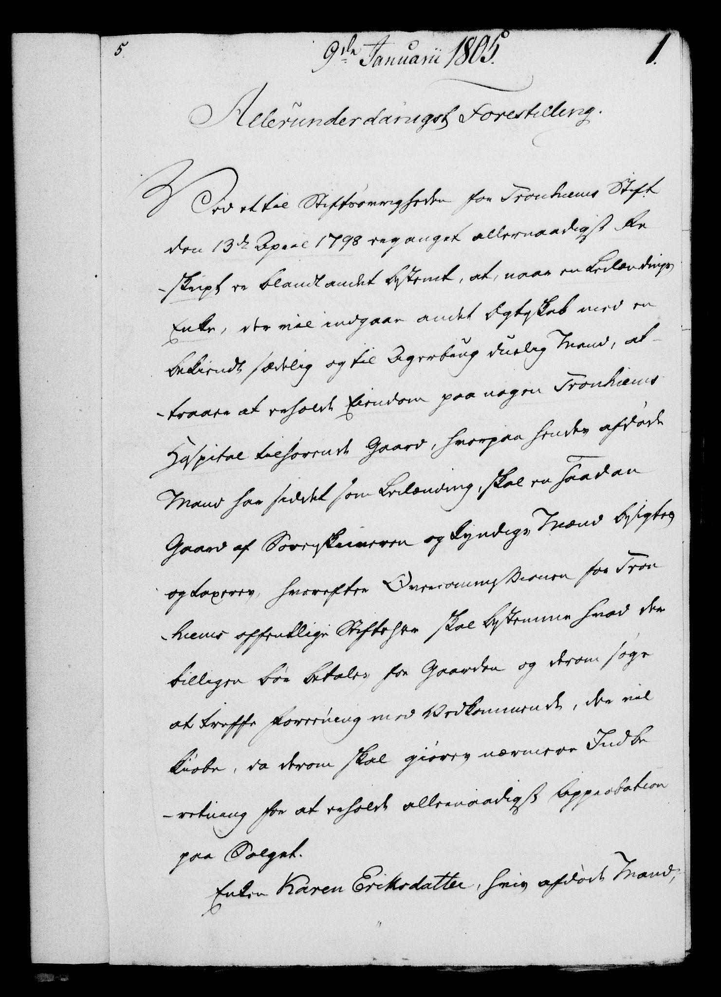 RA, Rentekammeret, Kammerkanselliet, G/Gf/Gfa/L0087: Norsk relasjons- og resolusjonsprotokoll (merket RK 52.87), 1805, s. 28