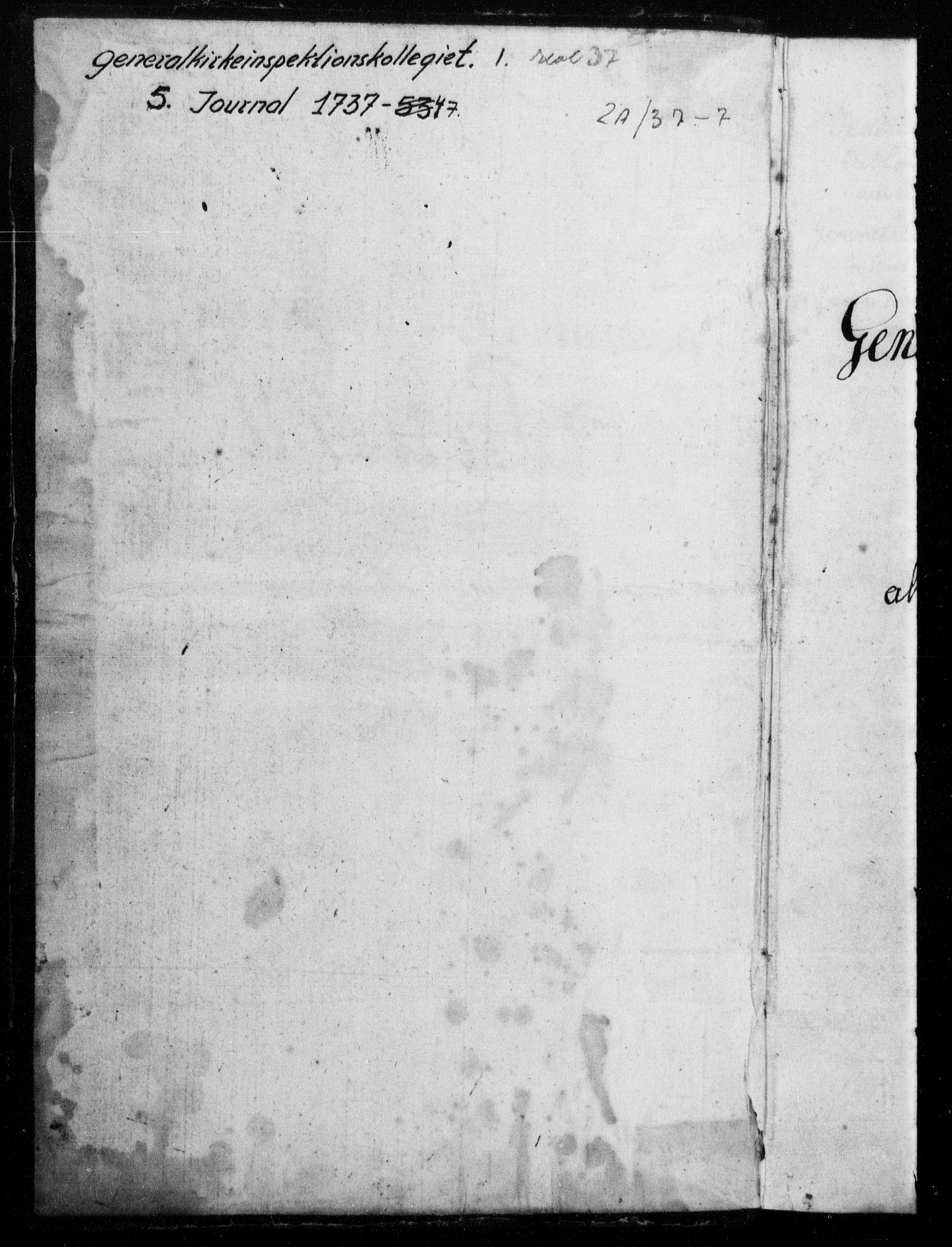 DRA, Generalkirkeinspektionskollegiet, F4-05/F4-05: General-Kirke-Inspectionens Protocoll over alle indkomne Brefve, Relationer og andre Documenter, 1737-1747
