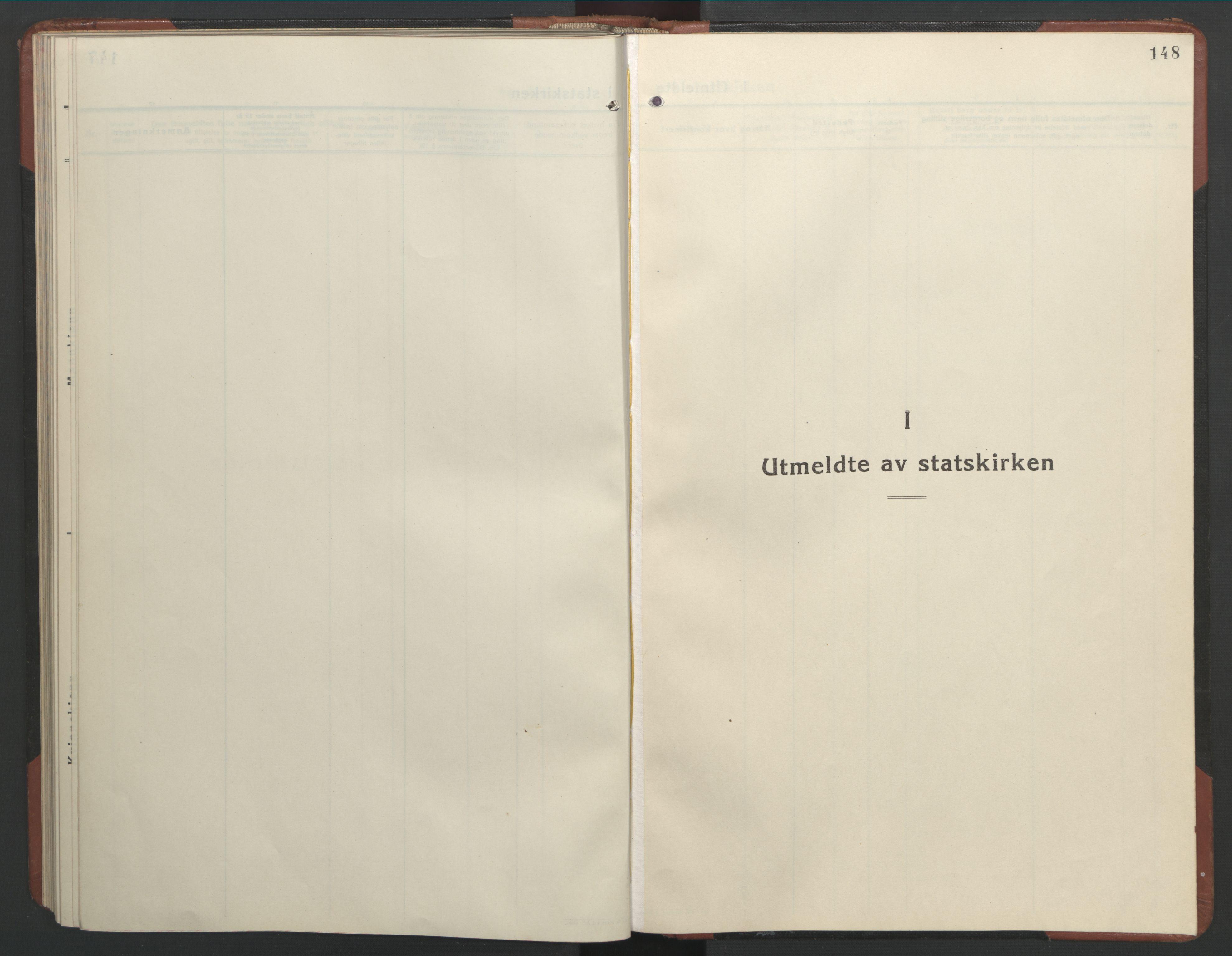 SAT, Ministerialprotokoller, klokkerbøker og fødselsregistre - Nordland, 803/L0078: Klokkerbok nr. 803C05, 1931-1952, s. 148