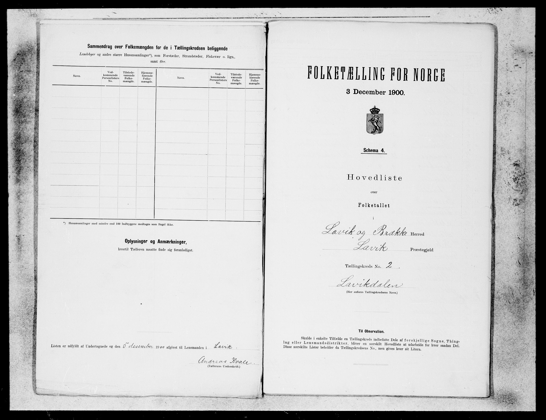 SAB, Folketelling 1900 for 1415 Lavik og Brekke herred, 1900, s. 4