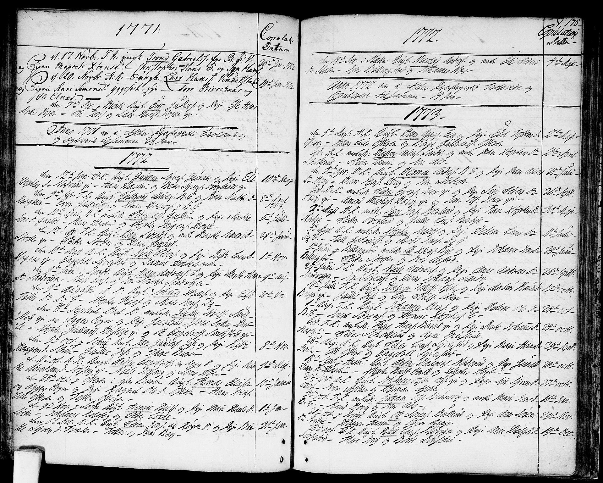 SAO, Asker prestekontor Kirkebøker, F/Fa/L0003: Ministerialbok nr. I 3, 1767-1807, s. 175