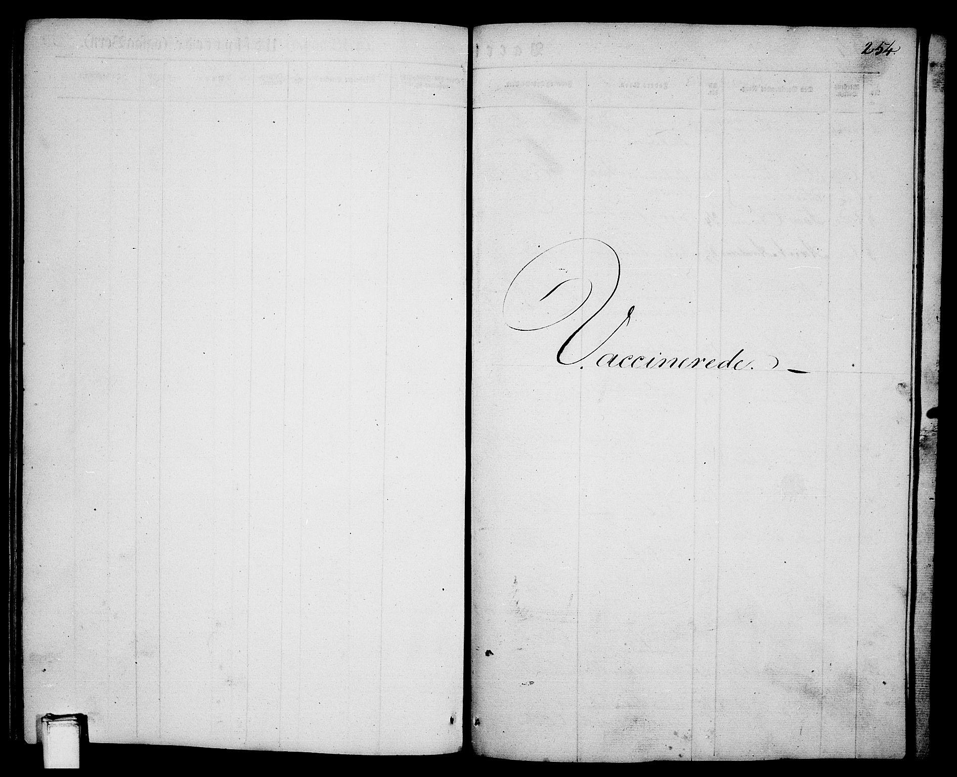 SAKO, Porsgrunn kirkebøker , G/Ga/L0002: Klokkerbok nr. I 2, 1847-1877, s. 254