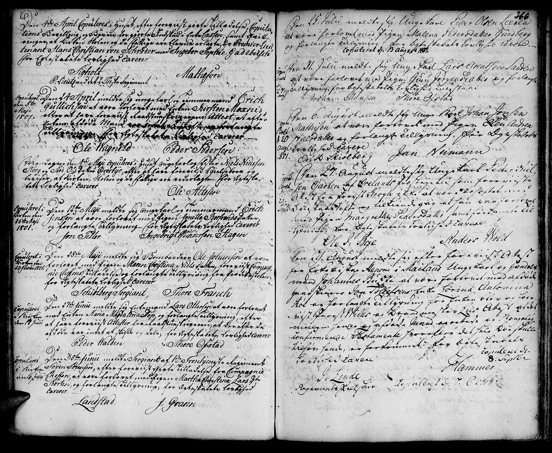 SAT, Ministerialprotokoller, klokkerbøker og fødselsregistre - Sør-Trøndelag, 601/L0038: Ministerialbok nr. 601A06, 1766-1877, s. 366