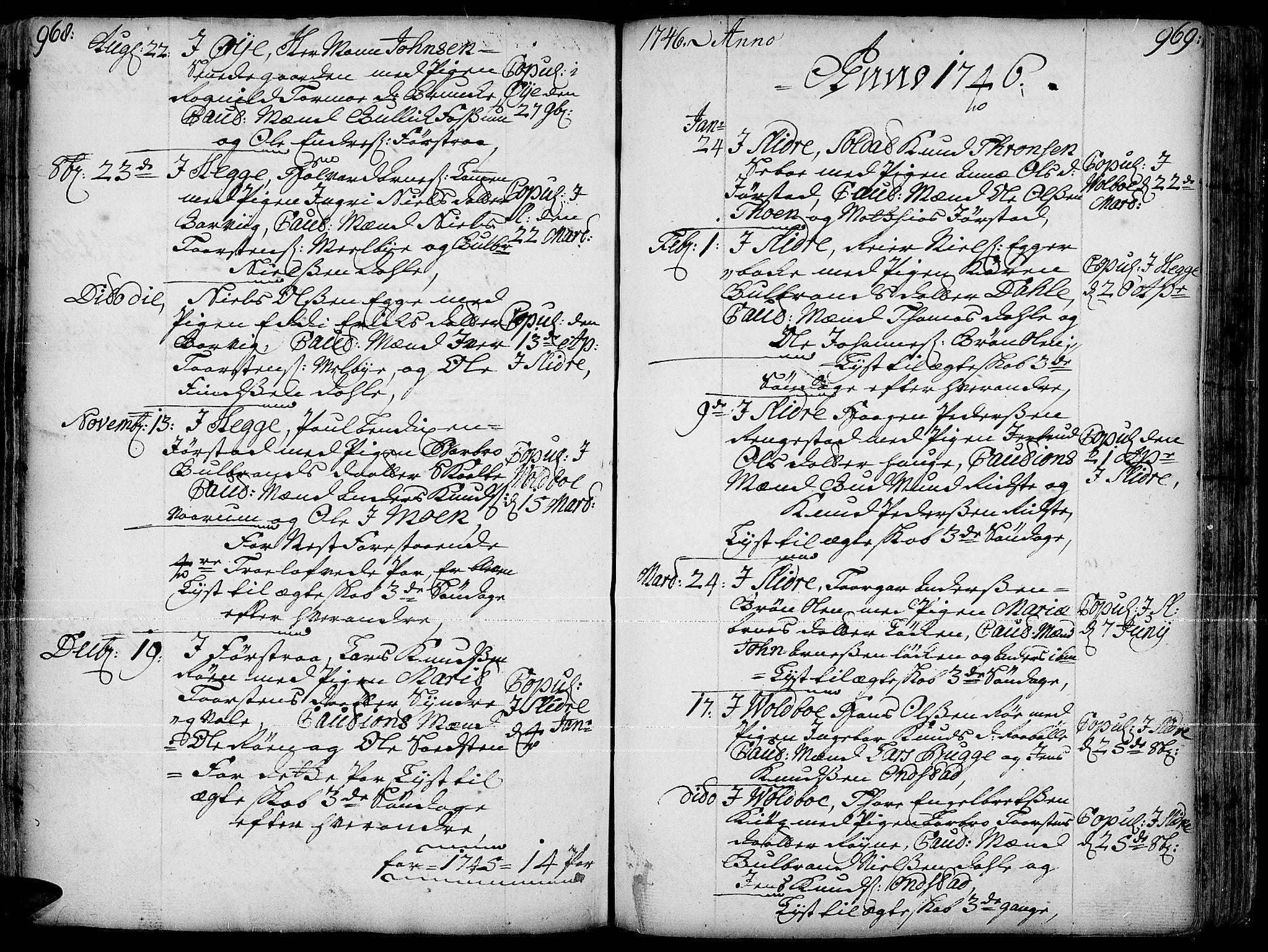 SAH, Slidre prestekontor, Ministerialbok nr. 1, 1724-1814, s. 968-969