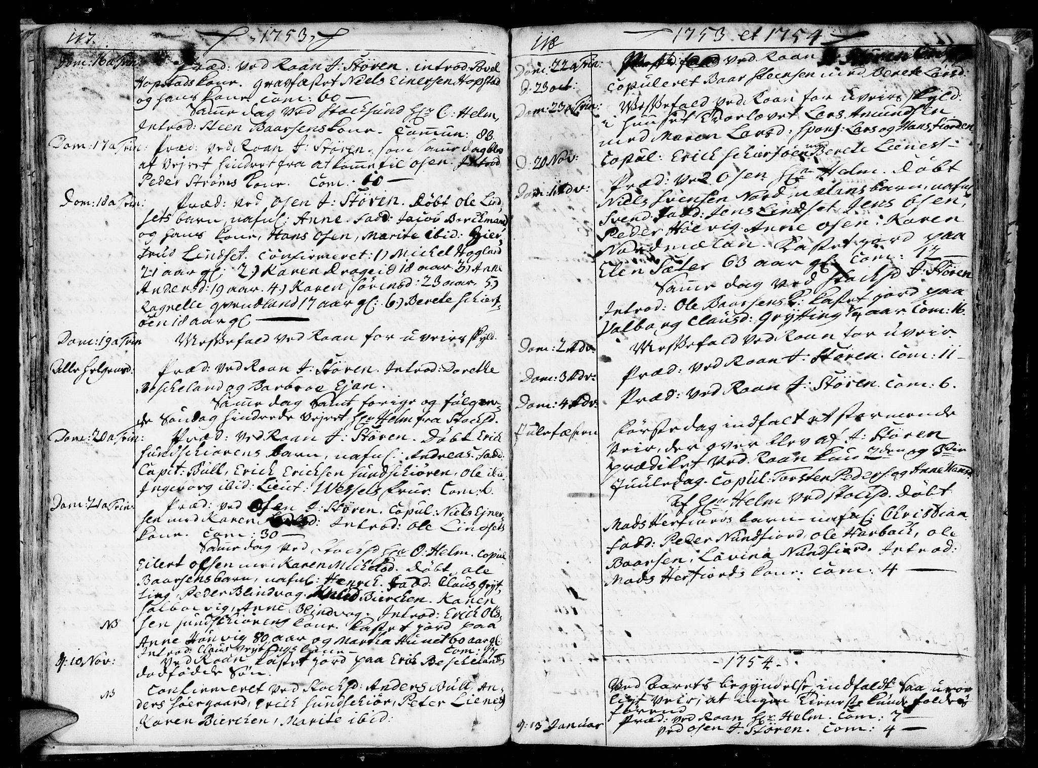 SAT, Ministerialprotokoller, klokkerbøker og fødselsregistre - Sør-Trøndelag, 657/L0700: Ministerialbok nr. 657A01, 1732-1801, s. 117-118
