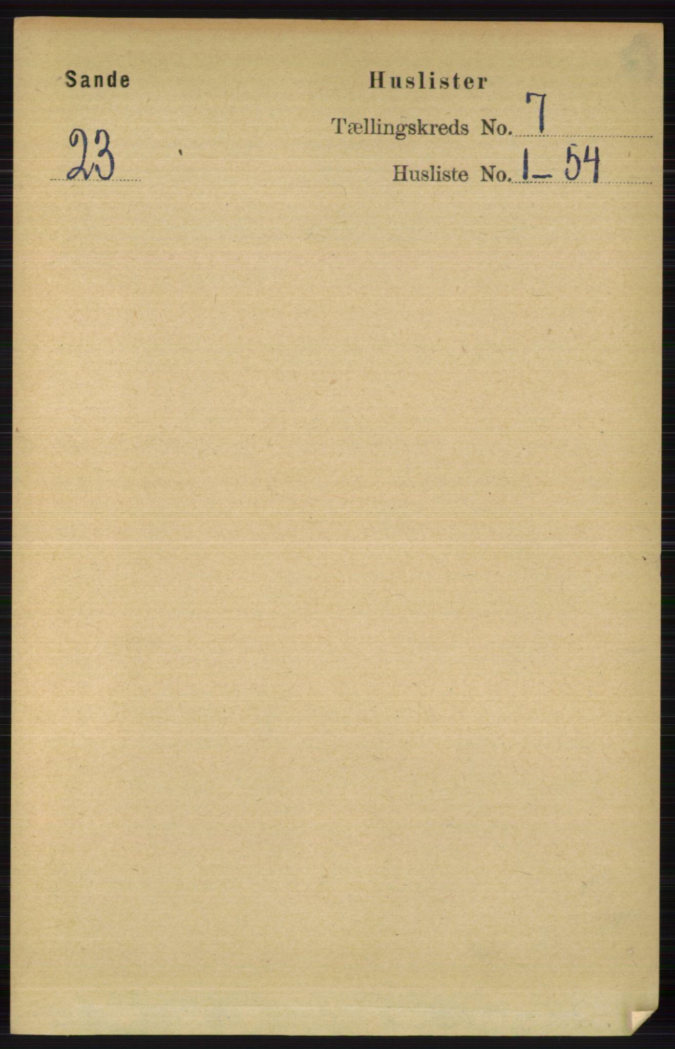 RA, Folketelling 1891 for 0713 Sande herred, 1891, s. 3079