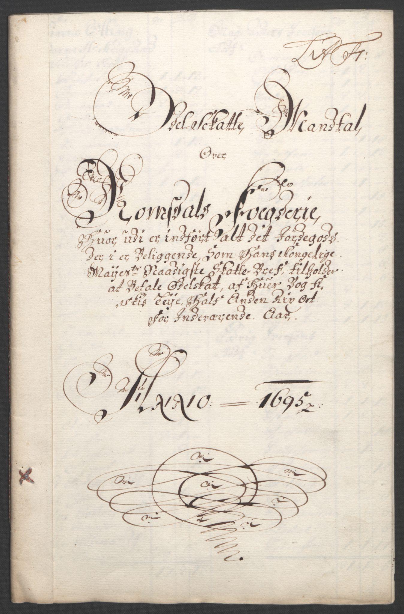 RA, Rentekammeret inntil 1814, Reviderte regnskaper, Fogderegnskap, R55/L3652: Fogderegnskap Romsdal, 1695-1696, s. 76