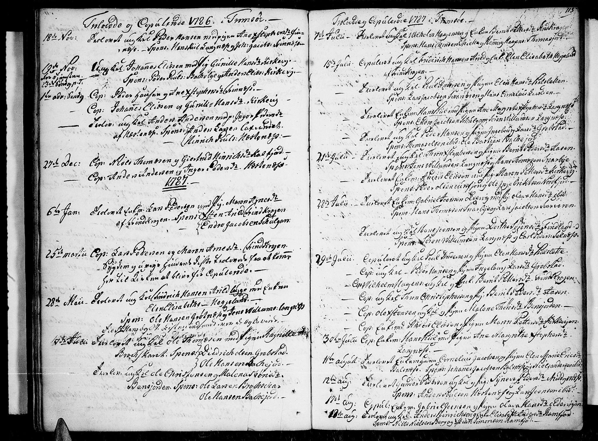 SATØ, Tromsø sokneprestkontor/stiftsprosti/domprosti, G/Ga/L0003kirke: Ministerialbok nr. 3, 1779-1796, s. 113