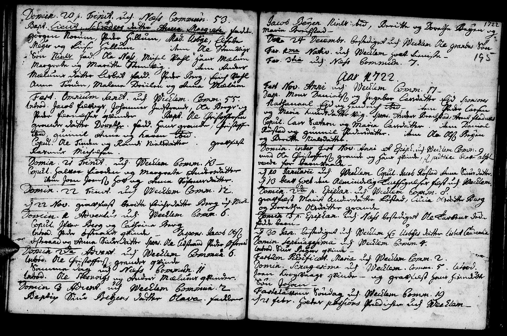 SAT, Ministerialprotokoller, klokkerbøker og fødselsregistre - Sør-Trøndelag, 659/L0731: Ministerialbok nr. 659A01, 1709-1731, s. 194-195