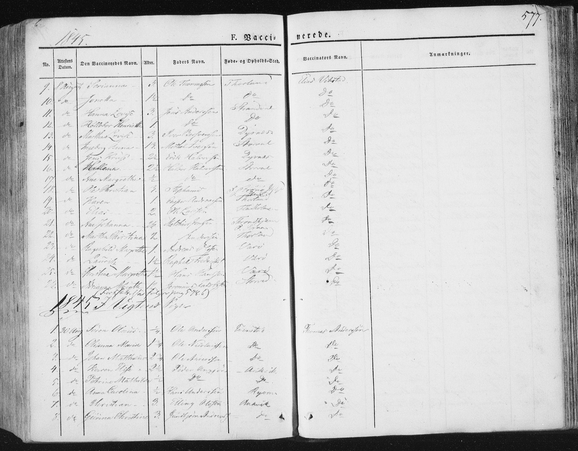 SAT, Ministerialprotokoller, klokkerbøker og fødselsregistre - Nord-Trøndelag, 784/L0669: Ministerialbok nr. 784A04, 1829-1859, s. 577