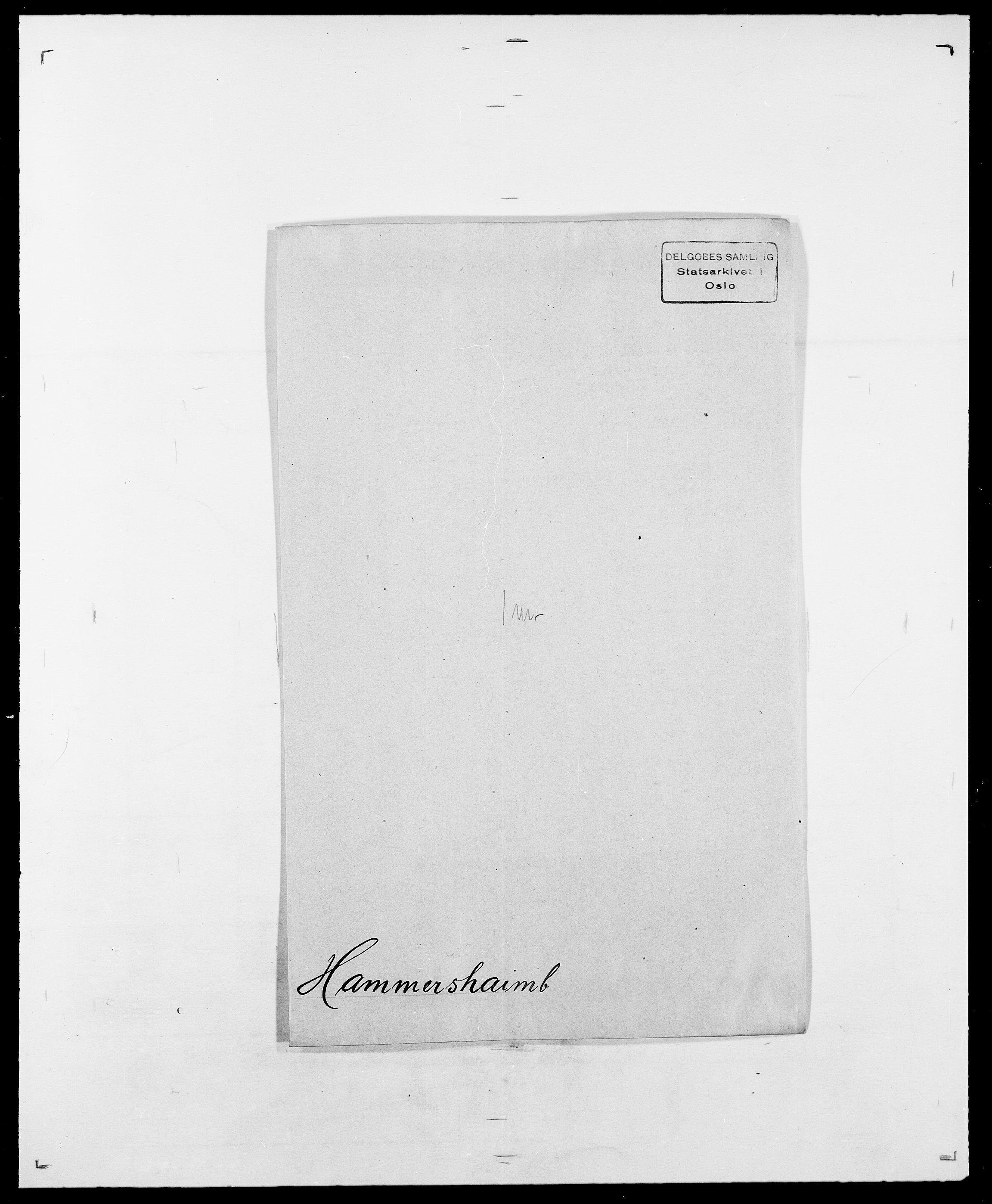SAO, Delgobe, Charles Antoine - samling, D/Da/L0016: Hamborg - Hektoen, s. 74