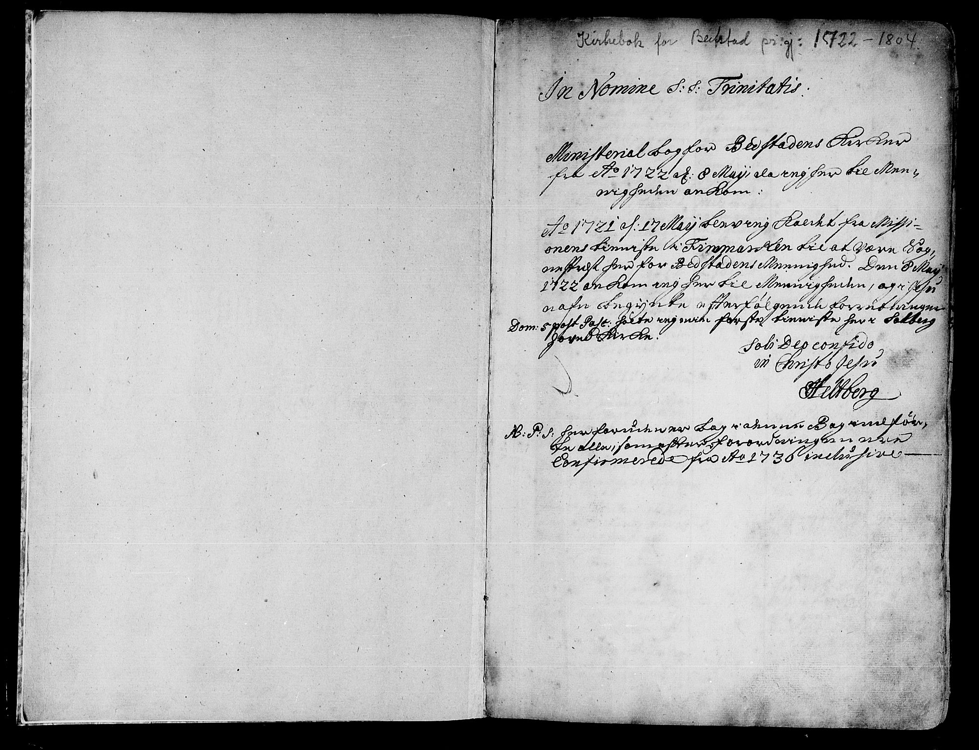 SAT, Ministerialprotokoller, klokkerbøker og fødselsregistre - Nord-Trøndelag, 741/L0385: Ministerialbok nr. 741A01, 1722-1815