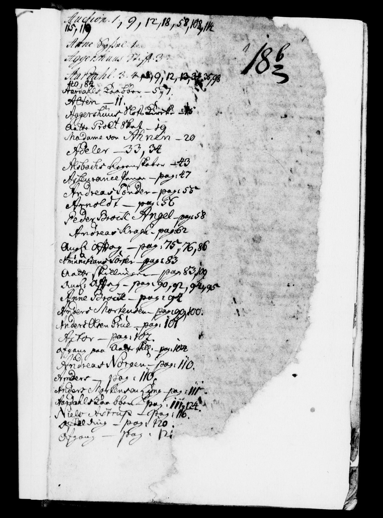RA, Rentekammeret, Kammerkanselliet, G/Gf/Gfb/L0002: Register til norske relasjons- og resolusjonsprotokoller (merket RK 52.97), 1724-1728, s. upaginert
