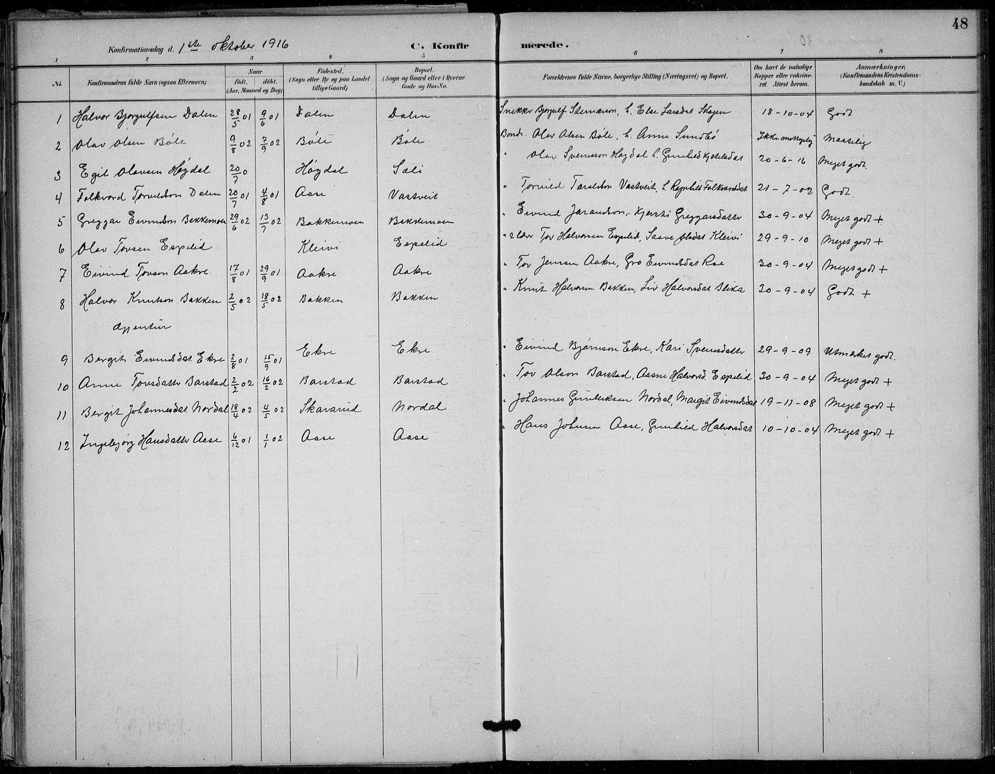 SAKO, Seljord kirkebøker, F/Fb/L0002: Ministerialbok nr. II 2, 1887-1917, s. 48