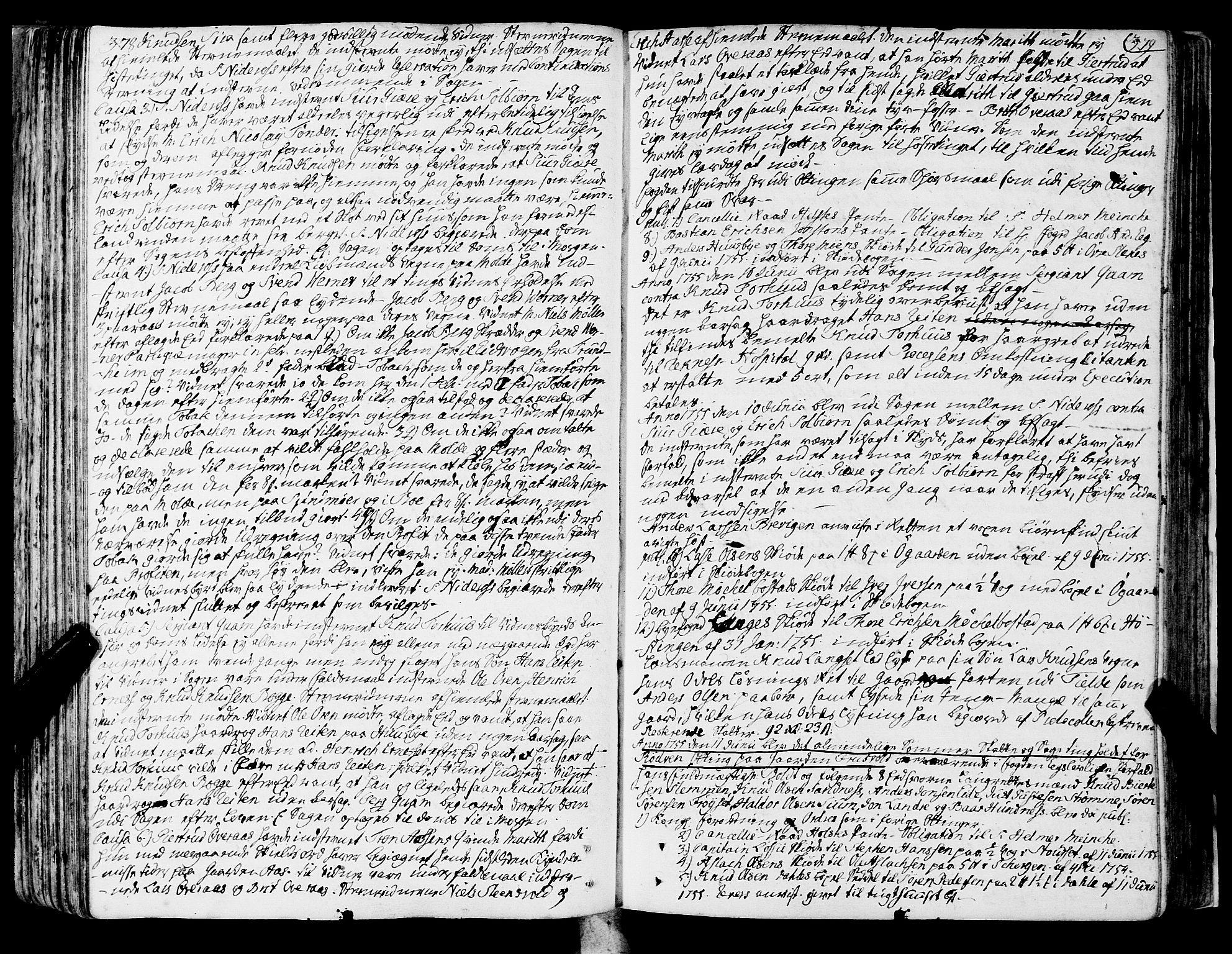 SAT, Romsdal sorenskriveri, 1/1A/L0013: Tingbok, 1749-1757, s. 378-379