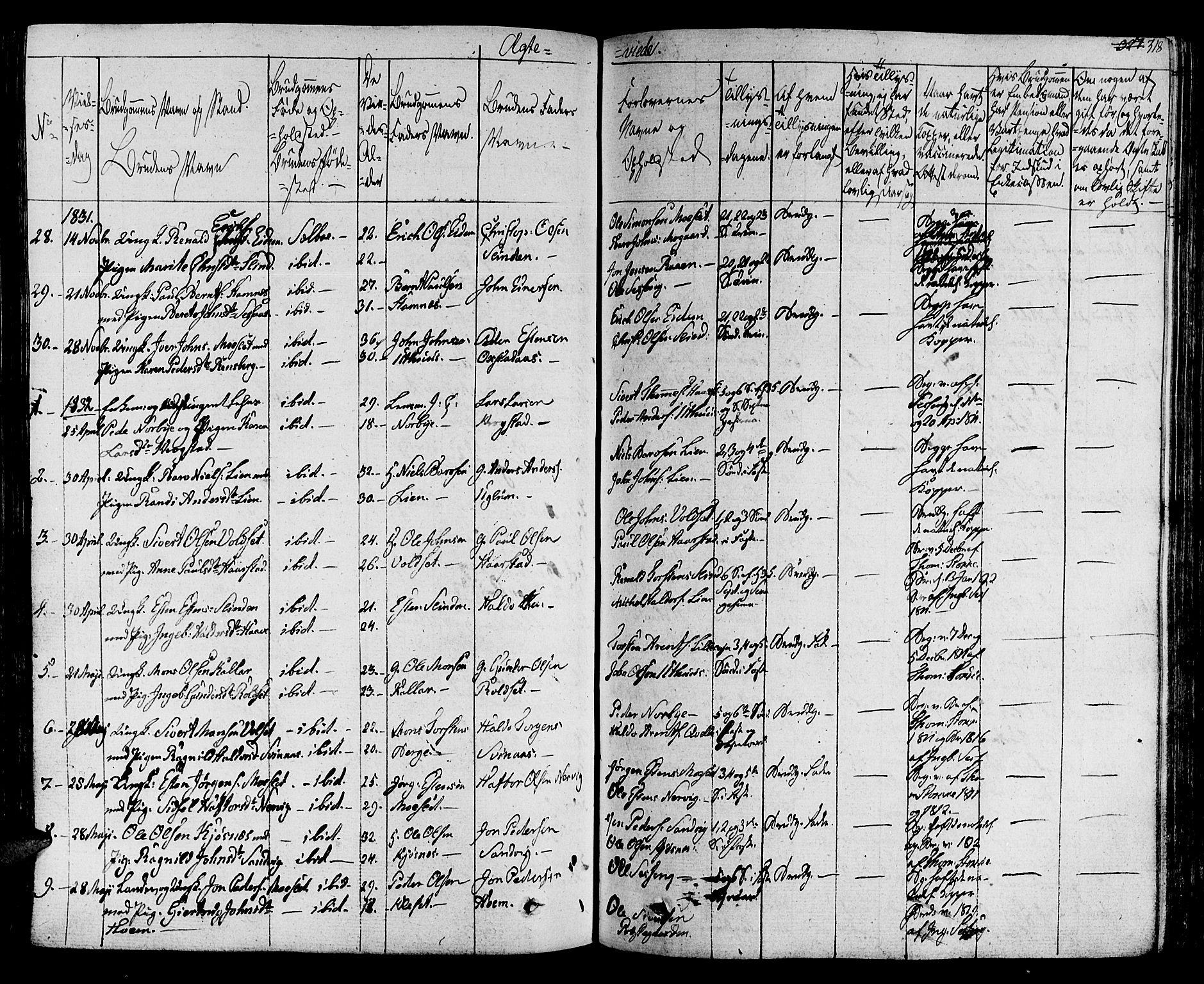 SAT, Ministerialprotokoller, klokkerbøker og fødselsregistre - Sør-Trøndelag, 695/L1143: Ministerialbok nr. 695A05 /1, 1824-1842, s. 318